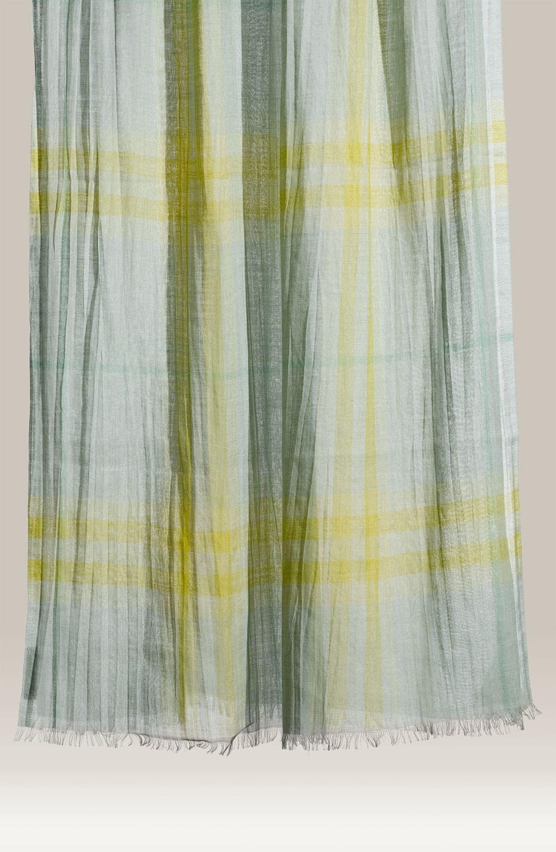 Giant Check Print Wool & Silk Scarf,                             Main thumbnail 10, color,