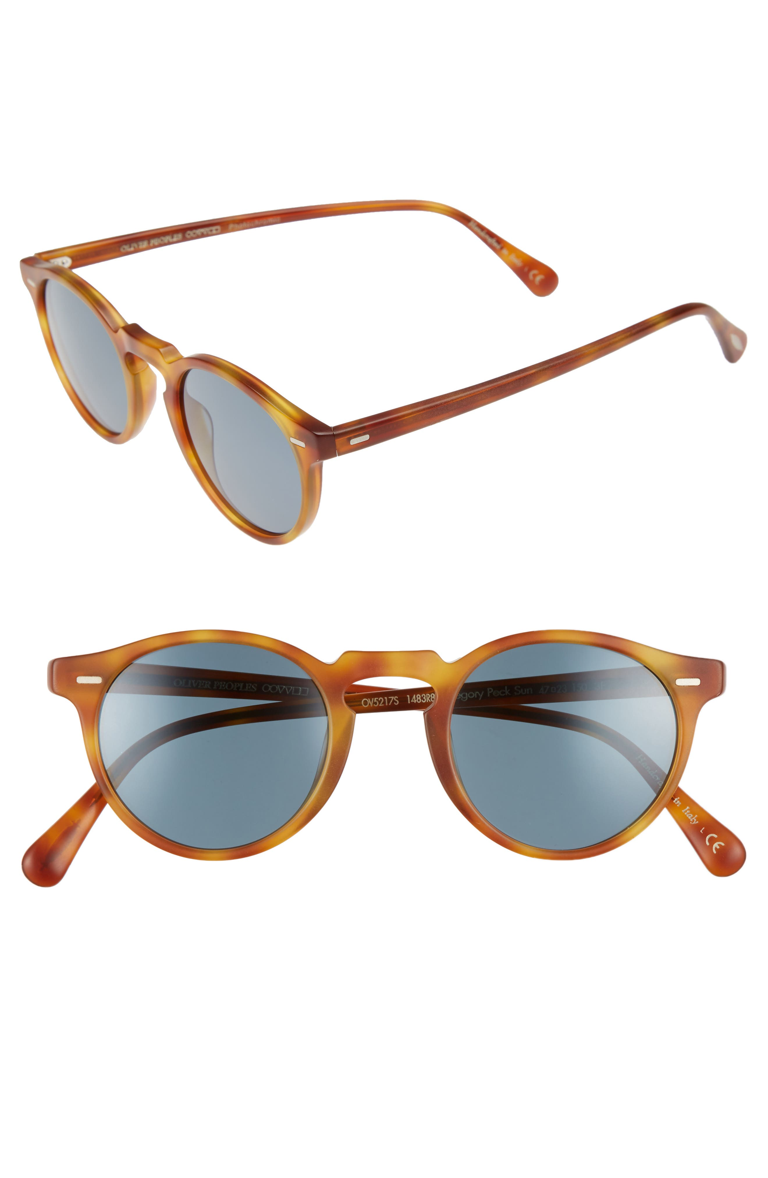 0bea13148b9 Oliver Peoples Gregory Peck 47Mm Round Sunglasses - Vintage Tortoise Brown