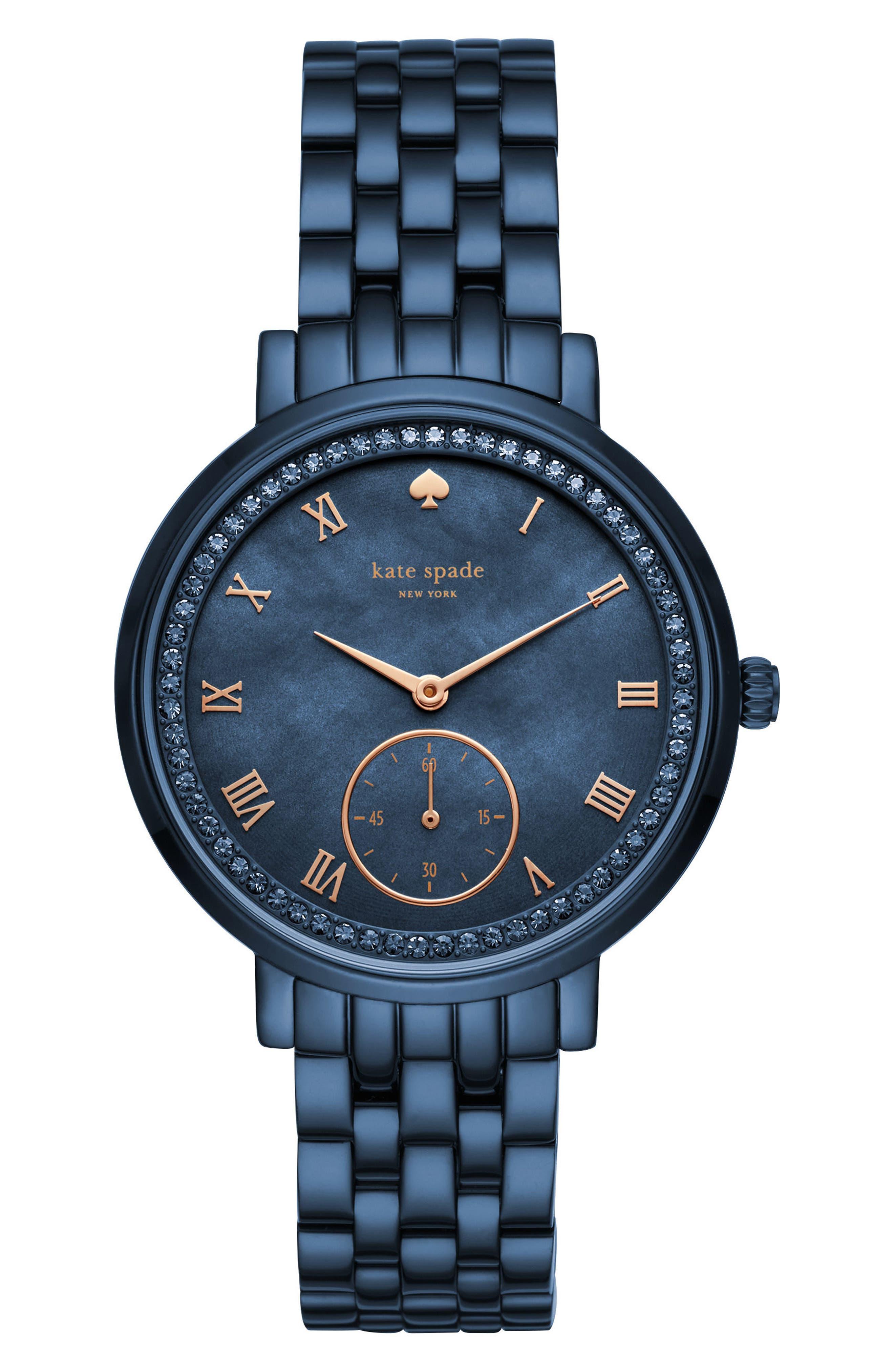 monterey bracelet watch, 38mm,                             Main thumbnail 1, color,                             BLUE