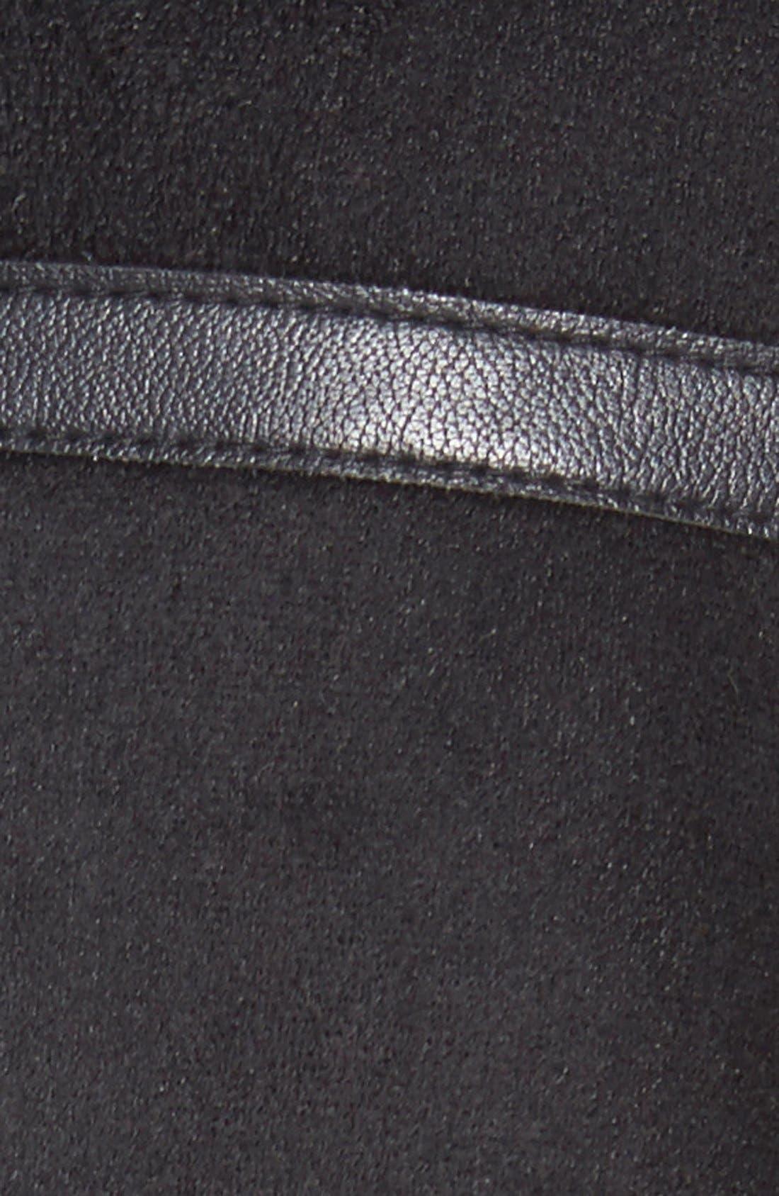 LAUNDRY BY SHELLI SEGAL,                             Laundry by ShelliSegalFauxShearling Moto Jacket,                             Alternate thumbnail 4, color,                             001