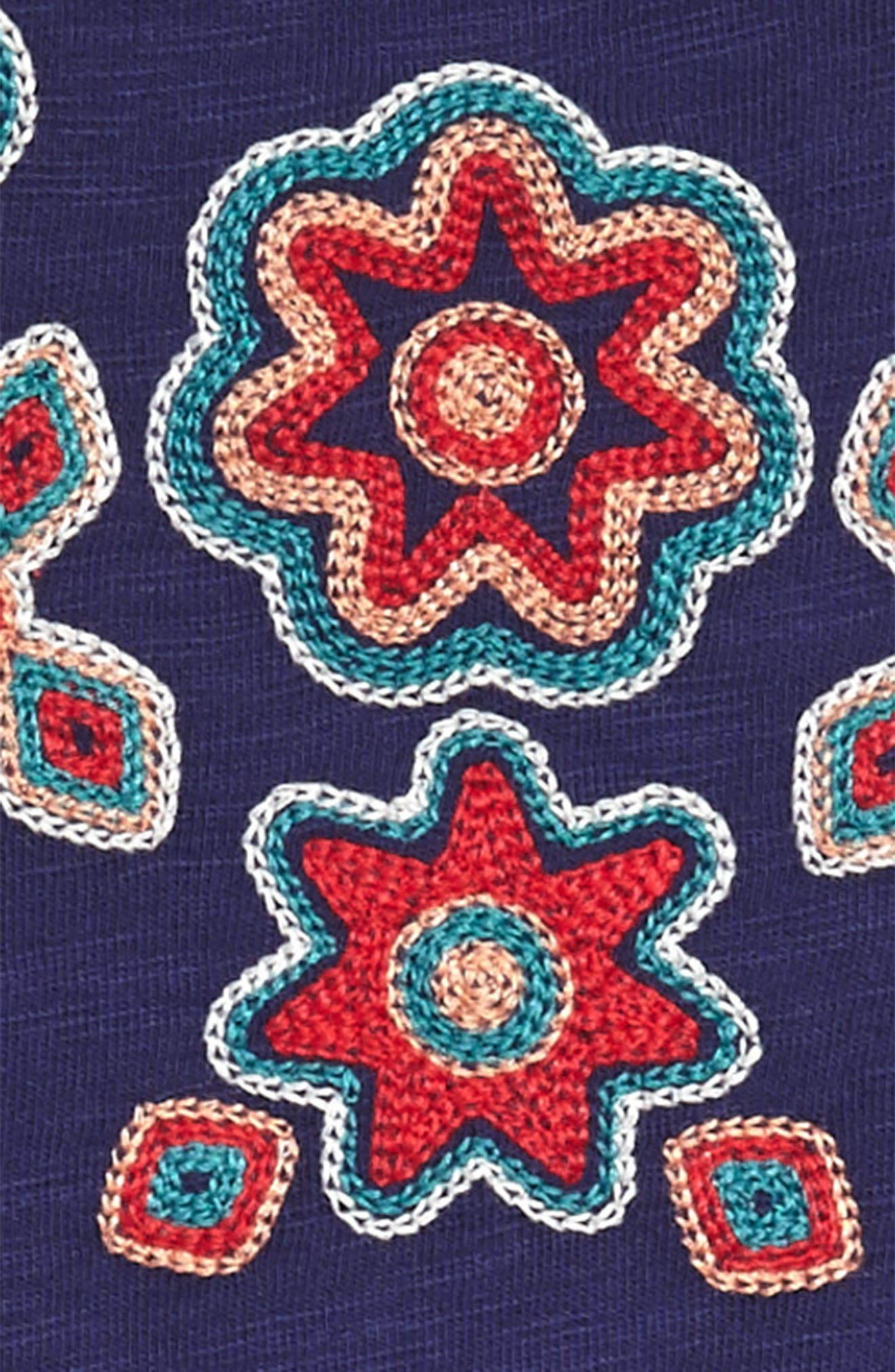 Berry Embroidered Dress,                             Alternate thumbnail 3, color,                             403