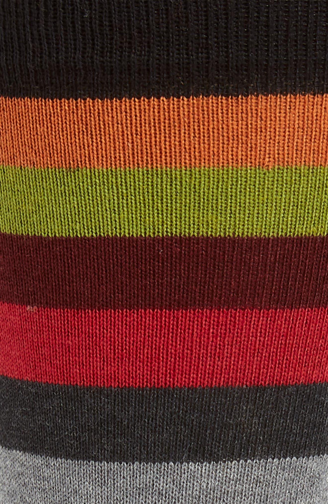 Stripe Socks,                             Alternate thumbnail 2, color,                             BLACK