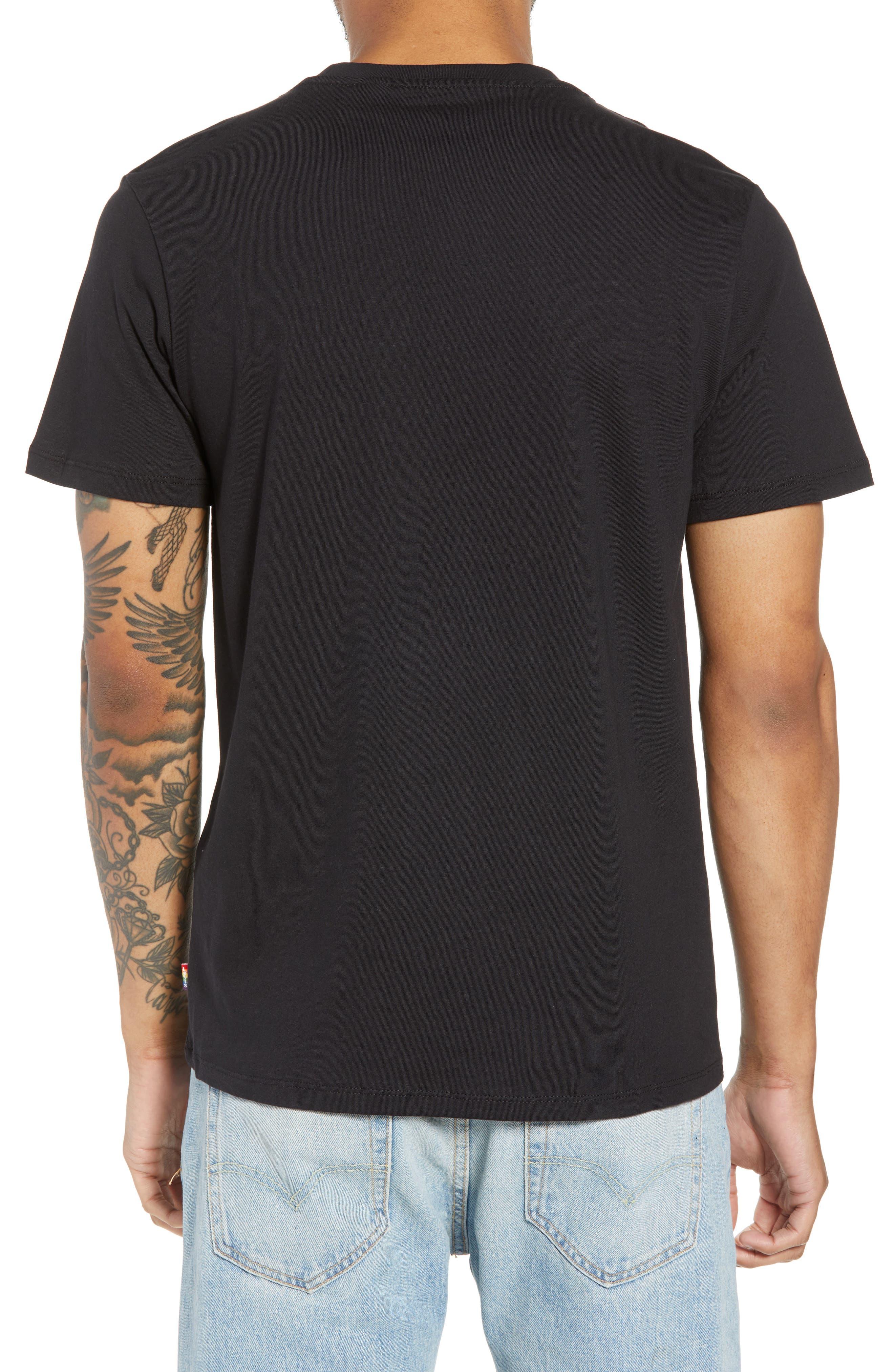 Community T-Shirt,                             Alternate thumbnail 2, color,                             I AM RAINBOW GRADIENT BLACK