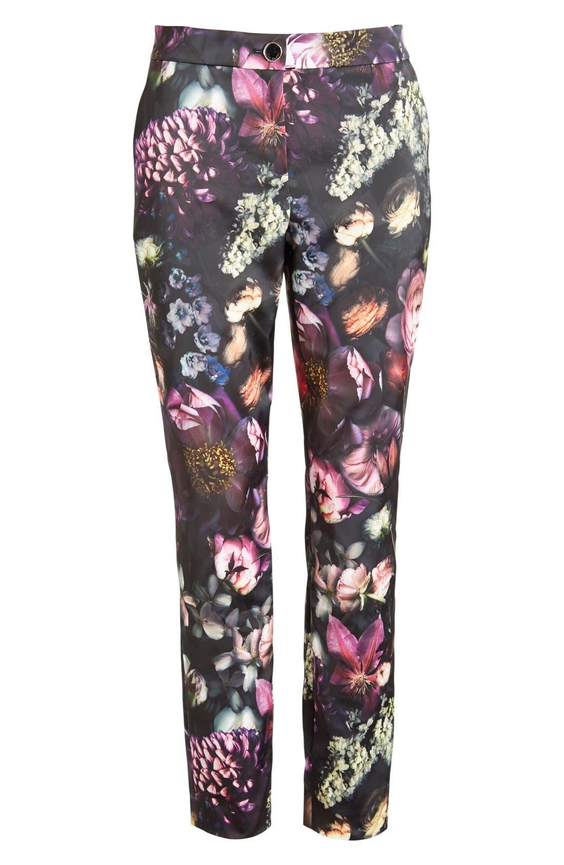 TED BAKER LONDON,                             'Anuja' Floral Print Trousers,                             Alternate thumbnail 2, color,                             021