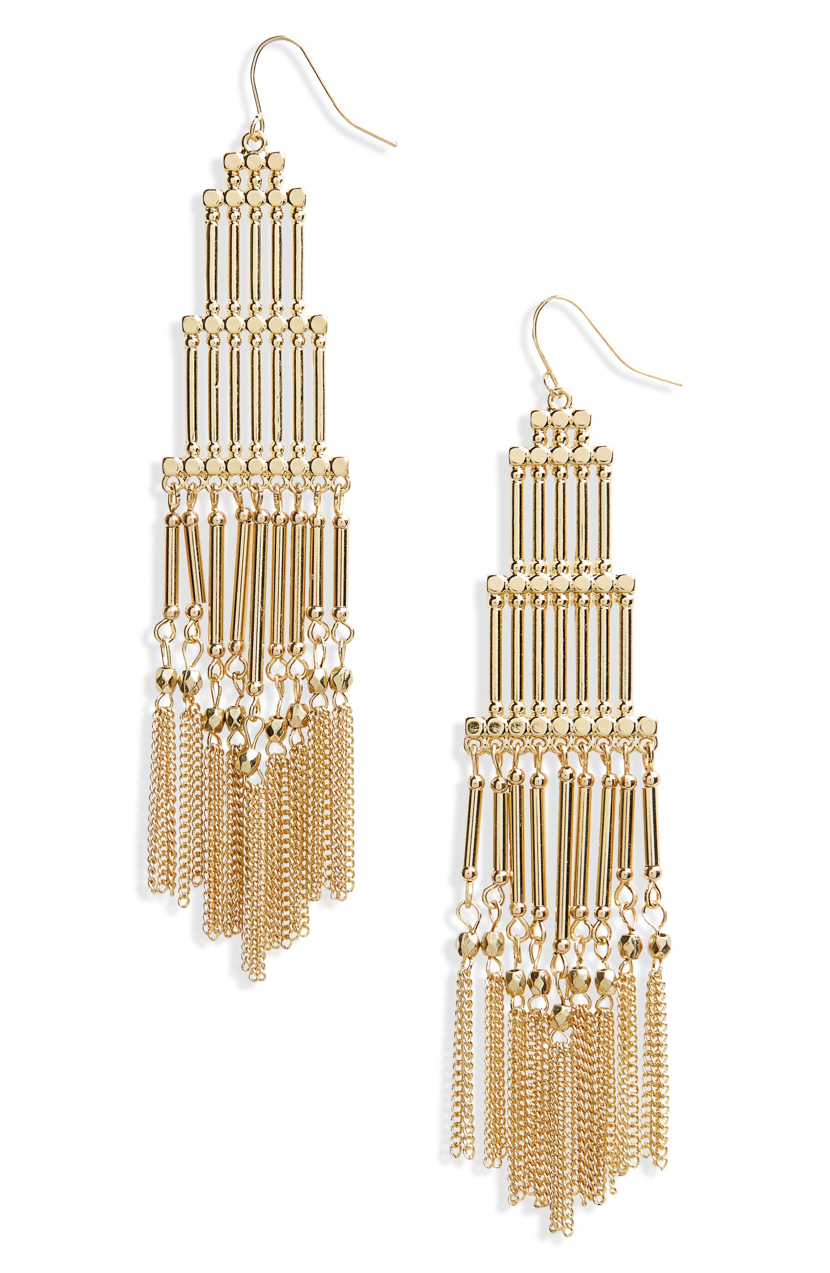 Boho Beaded Fringe Earrings,                         Main,                         color, 710