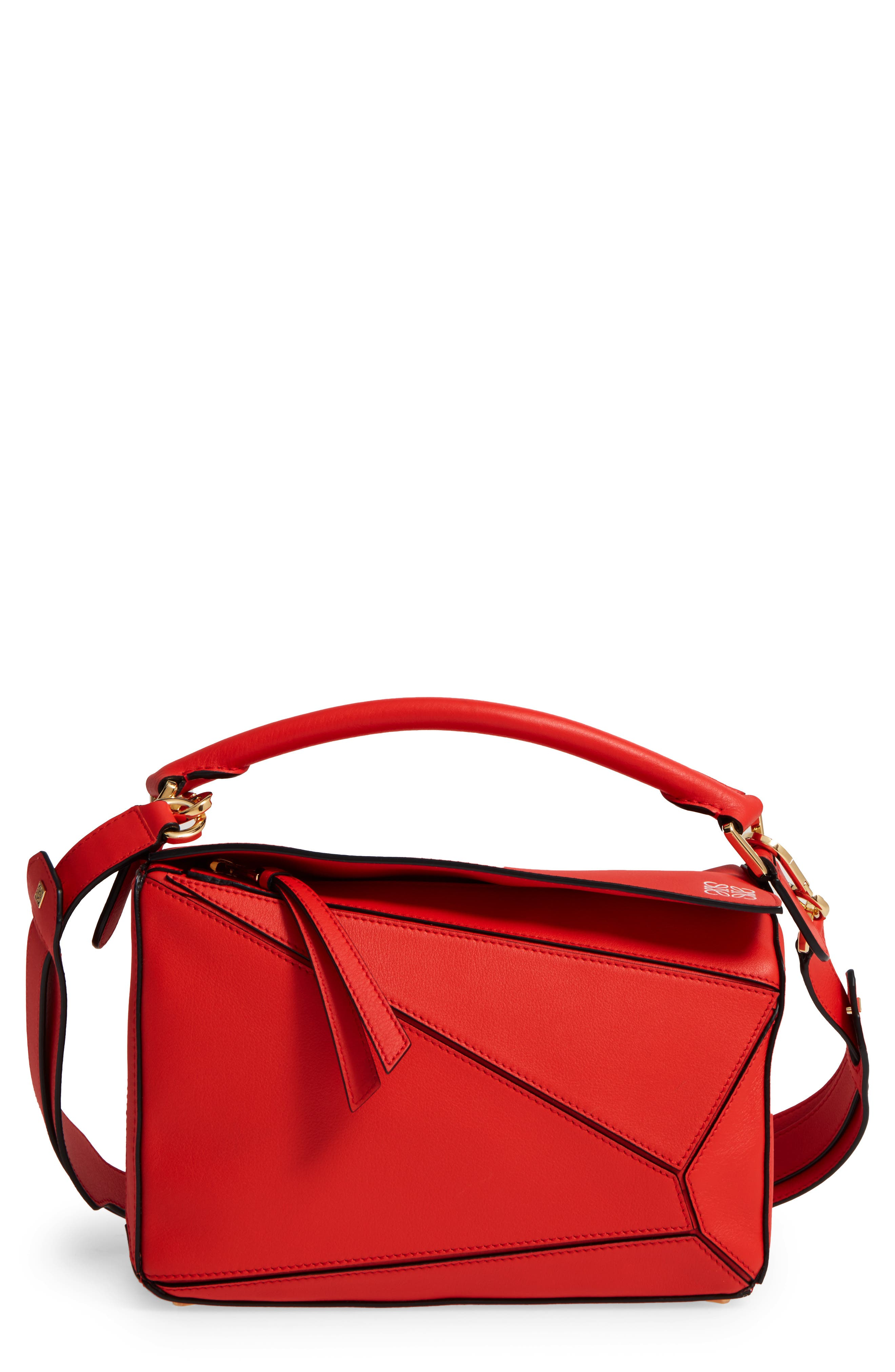 'Small Puzzle' Calfskin Leather Bag,                             Main thumbnail 6, color,