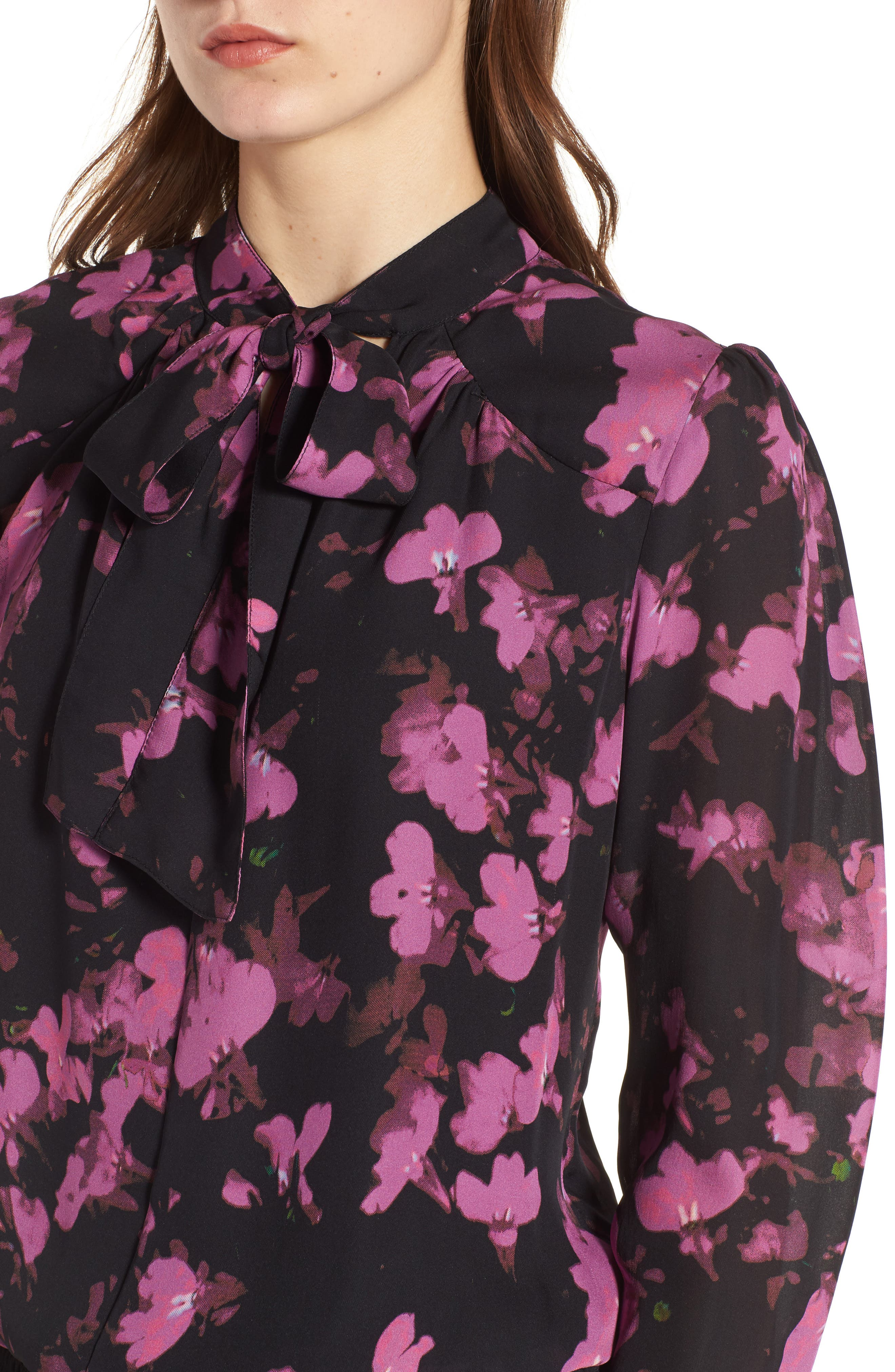 Marybeth Silk Shirtdress,                             Alternate thumbnail 4, color,