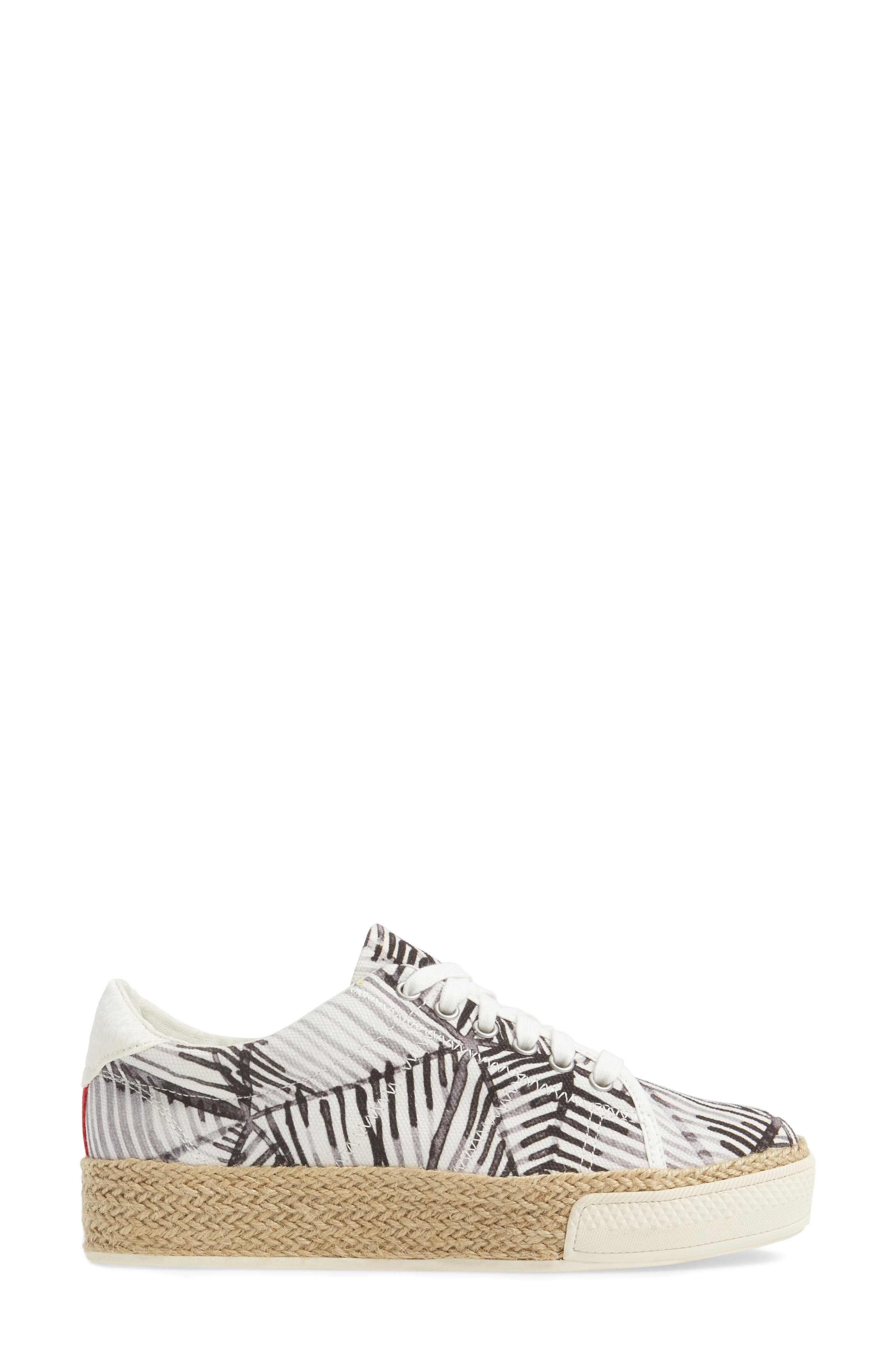 Tala Platform Sneaker,                             Alternate thumbnail 3, color,                             100