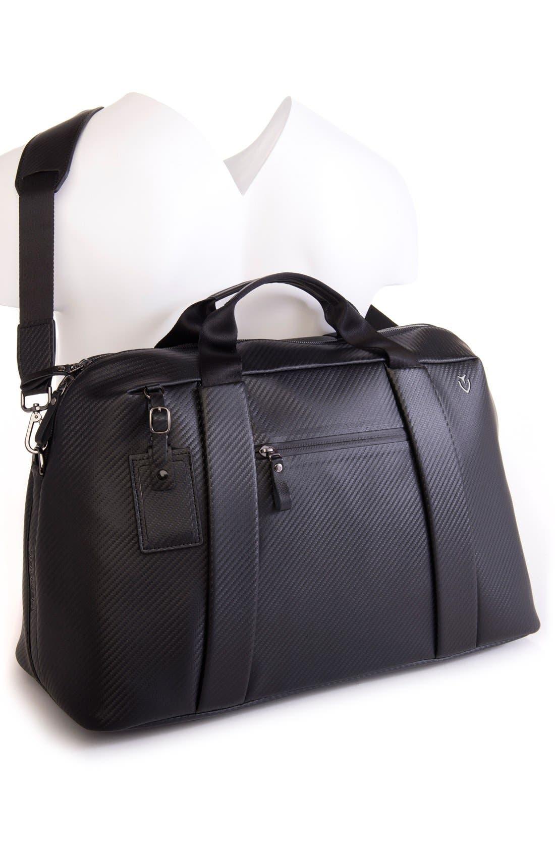 'Signature' Large Duffel Bag,                             Alternate thumbnail 2, color,                             CARBON BLACK