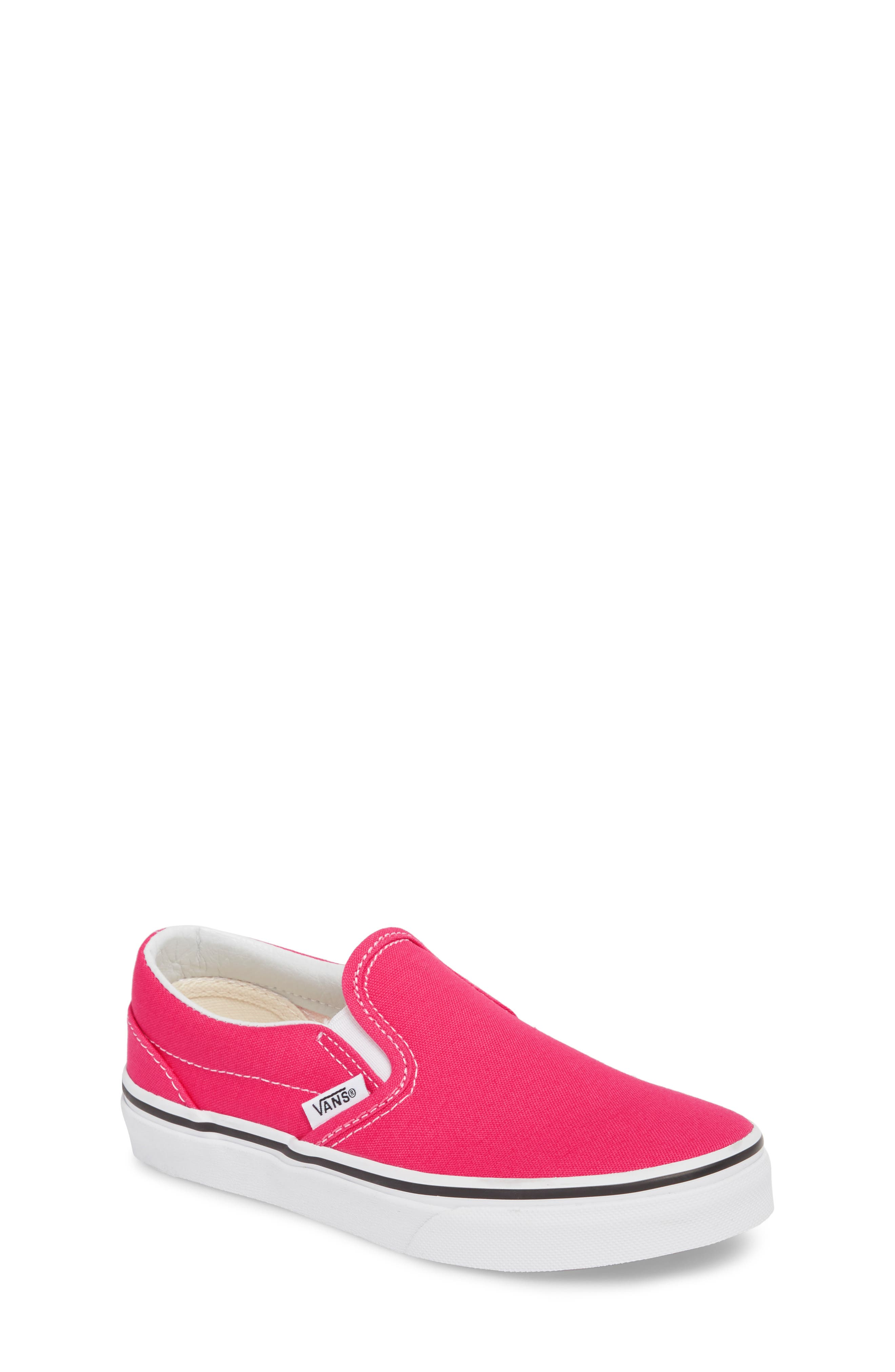 'Classic' Slip-On,                         Main,                         color, AZALEA/ TRUE WHITE