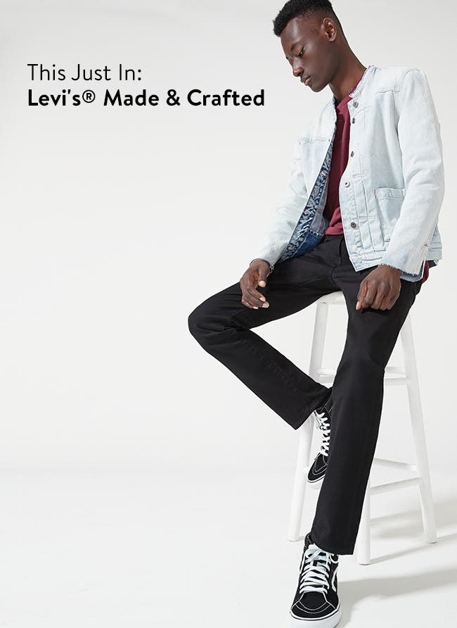 New arrivals in designer clothing for men, from Levi's Made and Crafted.