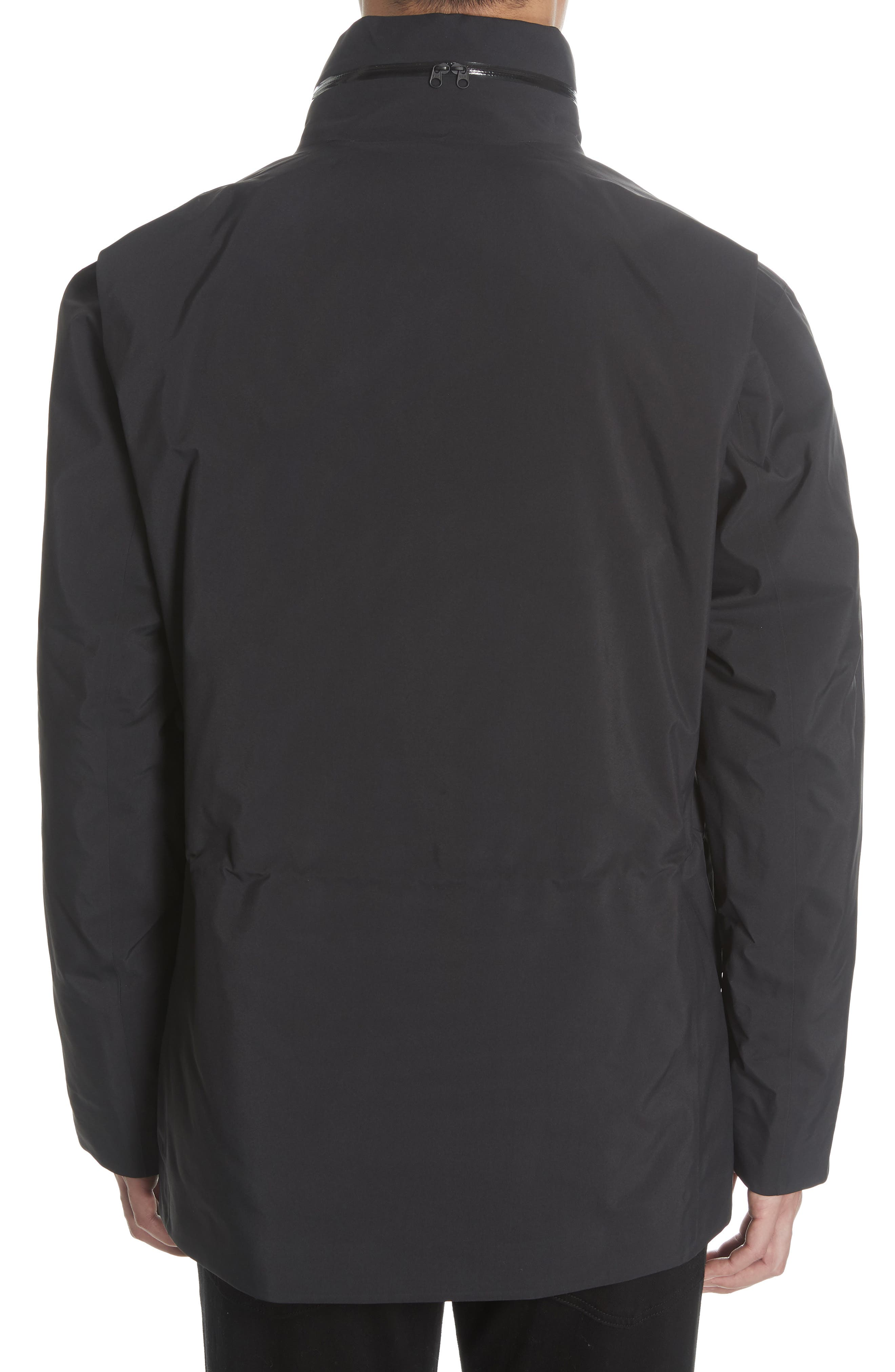 Gore-Tex<sup>®</sup> Pro Waterproof/Windproof Insulated Field Jacket,                             Alternate thumbnail 3, color,                             BLACK