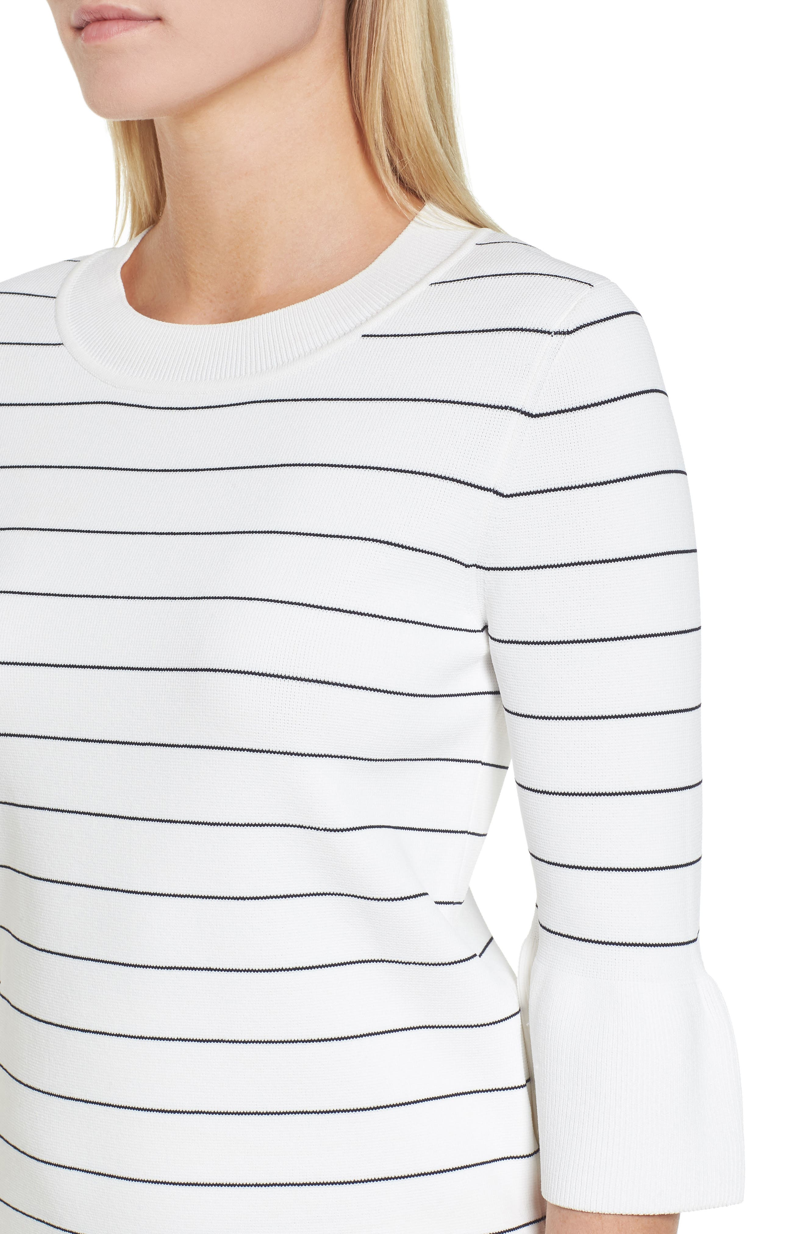 Fenella Stripe Sweater,                             Alternate thumbnail 4, color,                             170