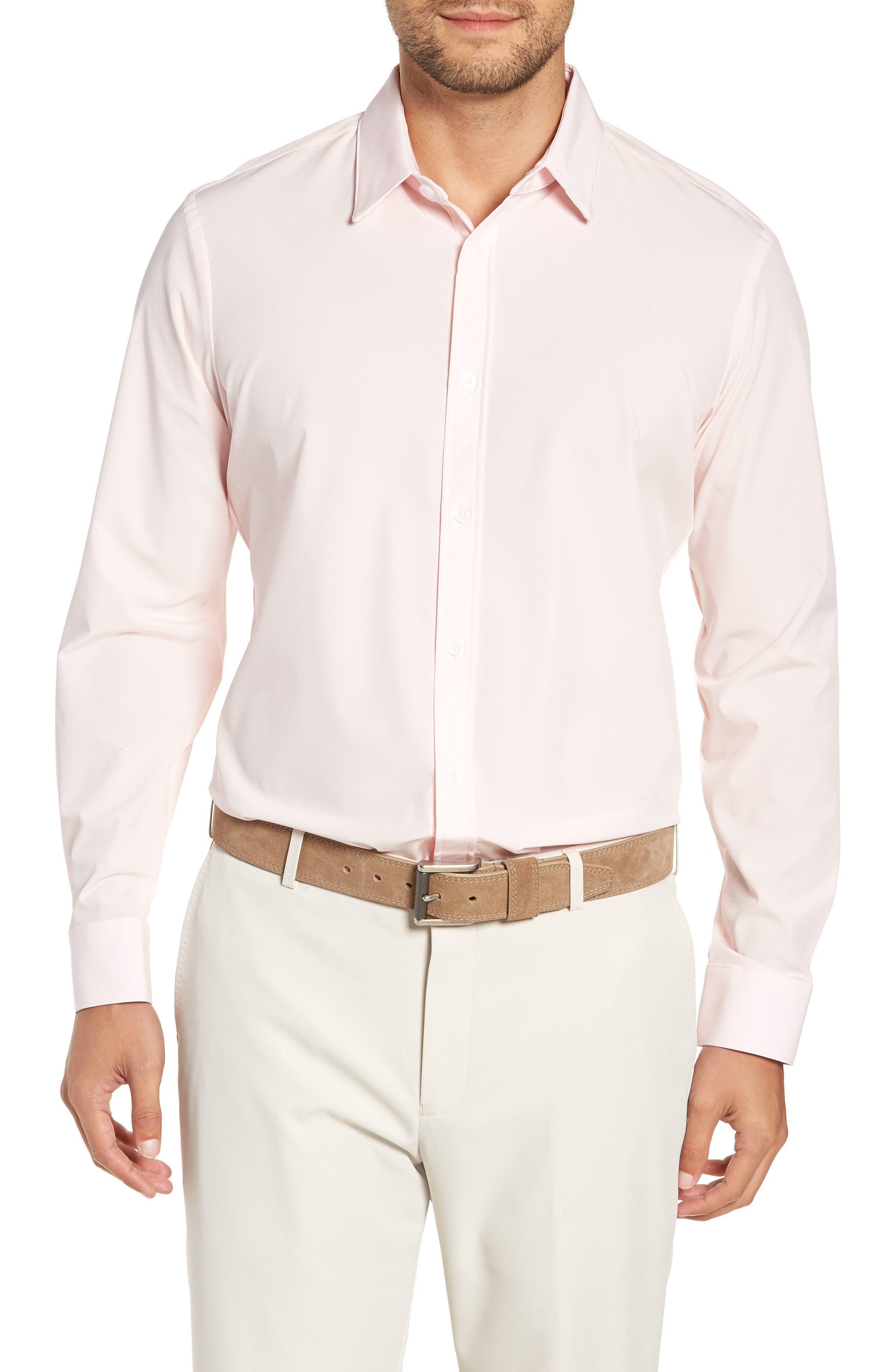 Buchanan Regular Fit Sport Shirt,                         Main,                         color, PINK