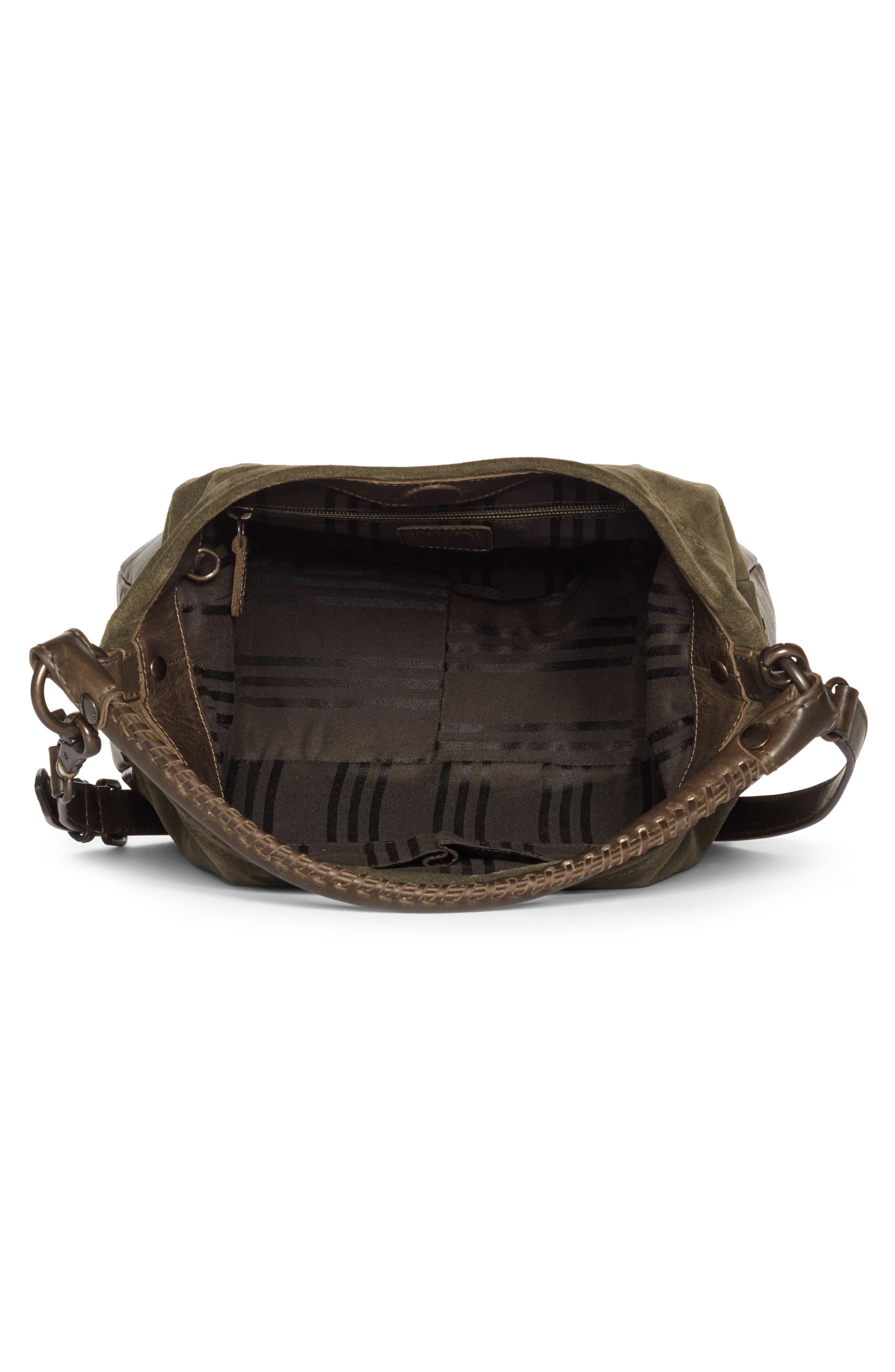 Melissa Suede & Whipstitch Leather Hobo,                             Alternate thumbnail 4, color,