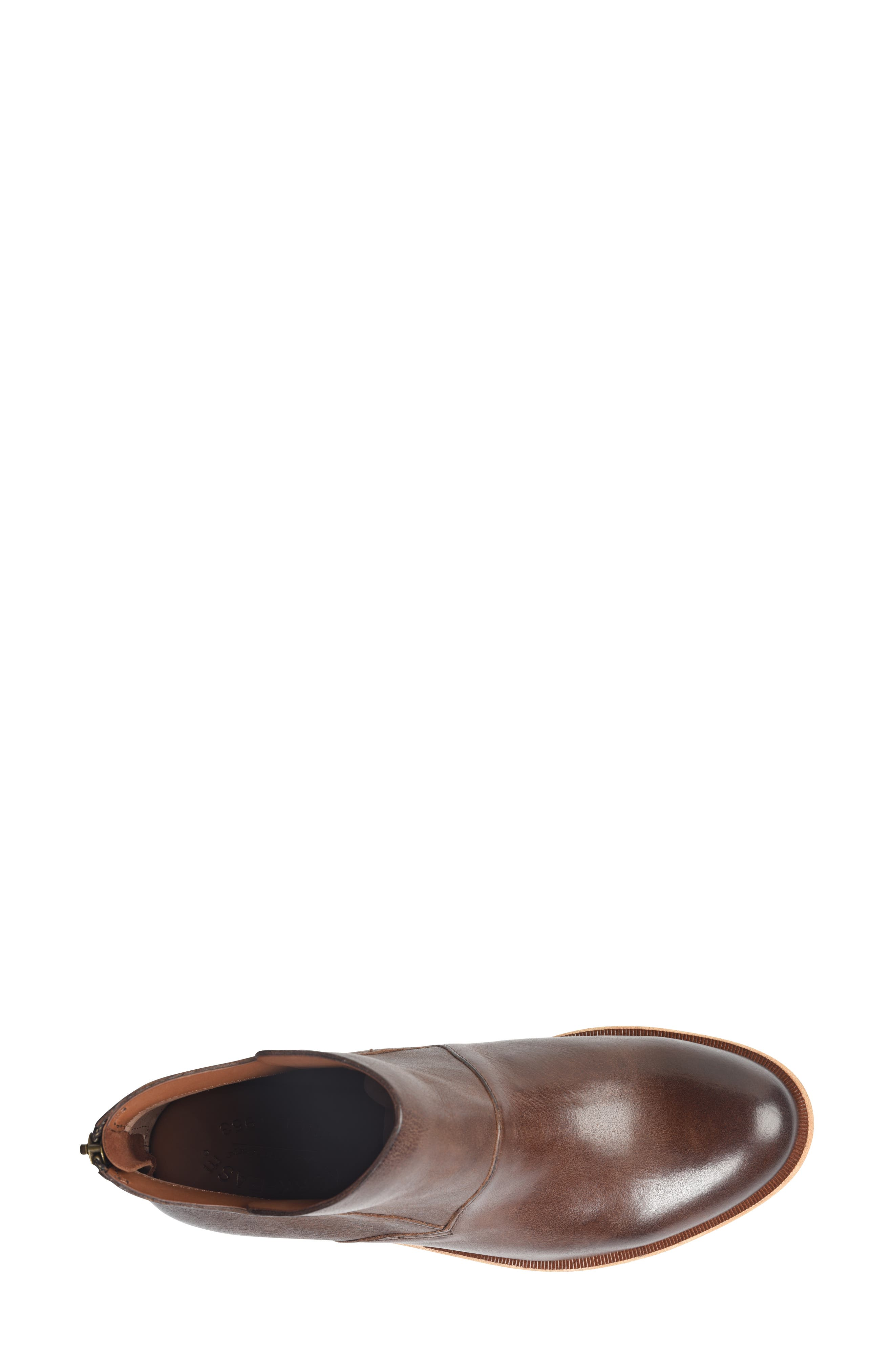 Ryder Ankle Boot,                             Alternate thumbnail 5, color,                             DARK BROWN LEATHER