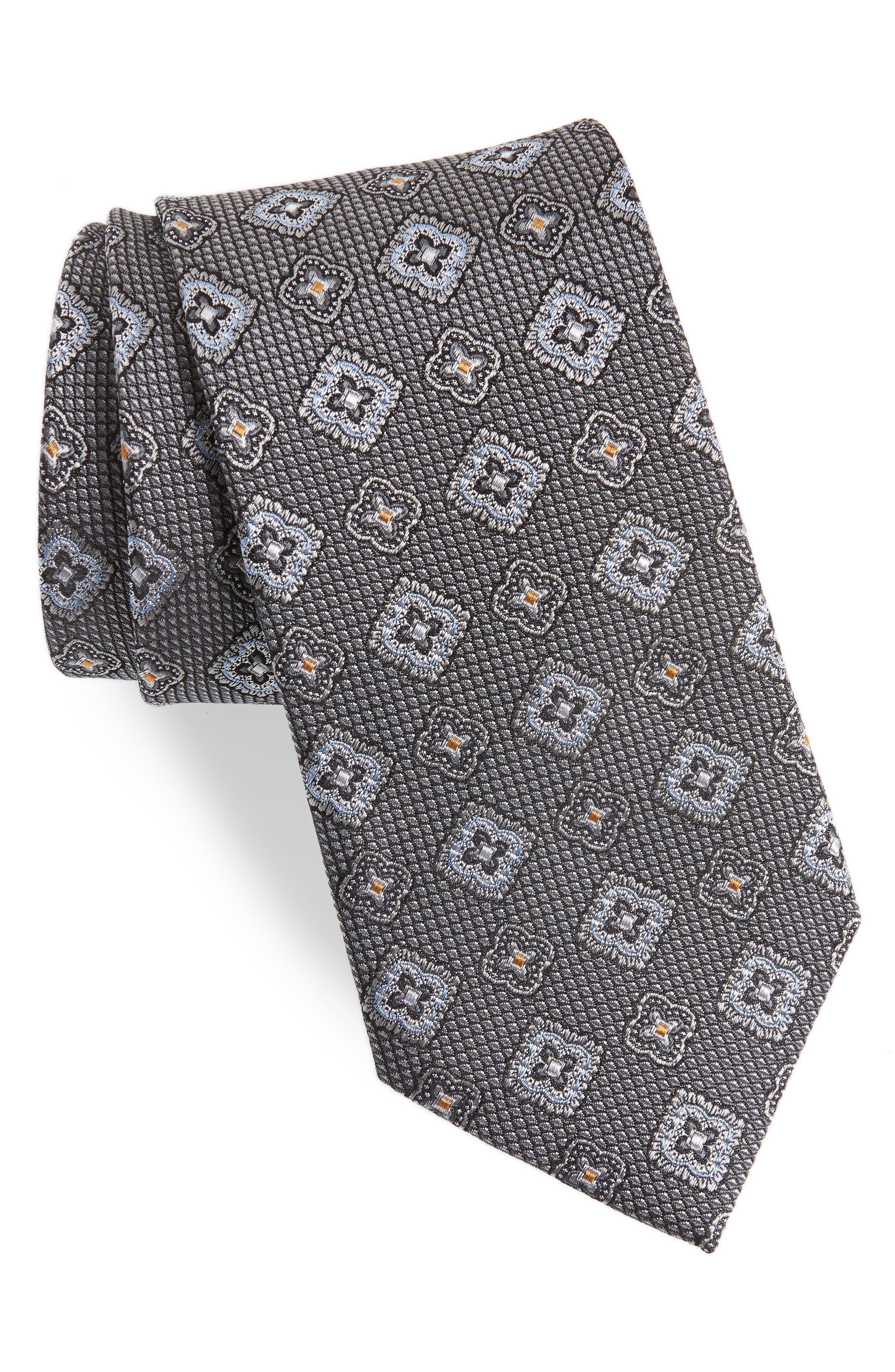Silk Medallion Tie,                         Main,                         color, 040