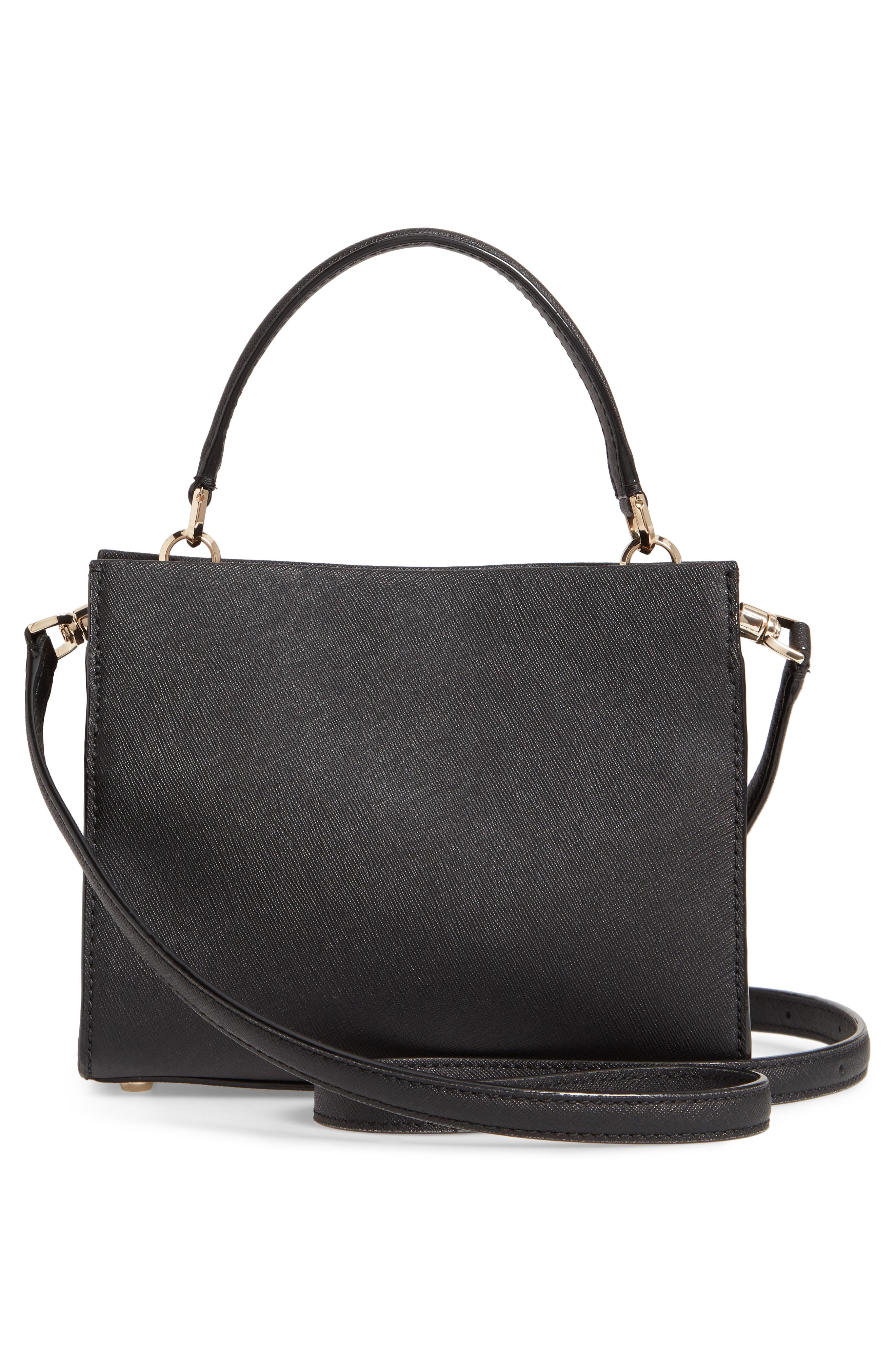 small cameron street - sara leather satchel,                             Alternate thumbnail 3, color,                             001