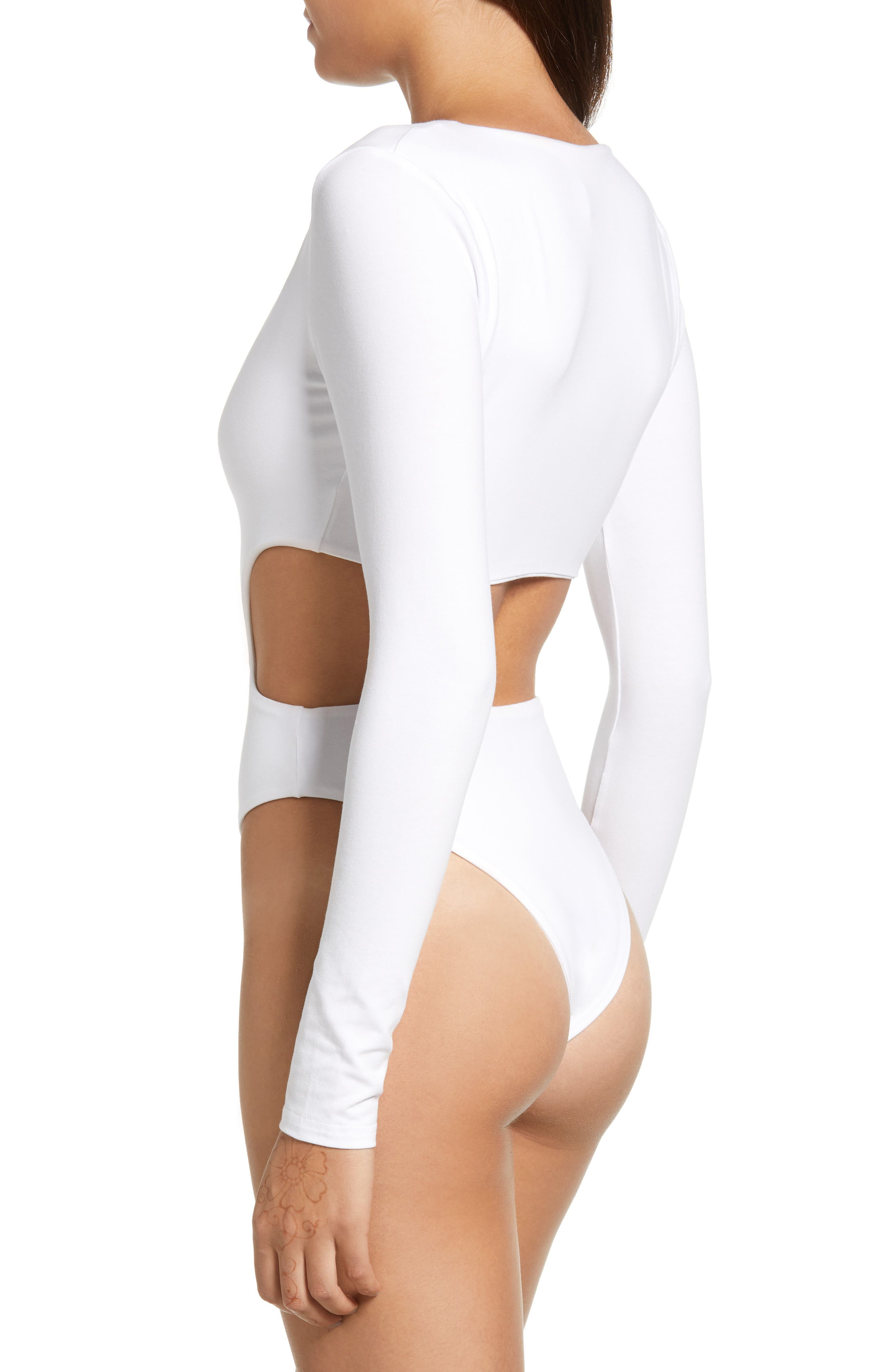 Isabella Bodysuit,                             Alternate thumbnail 3, color,                             100
