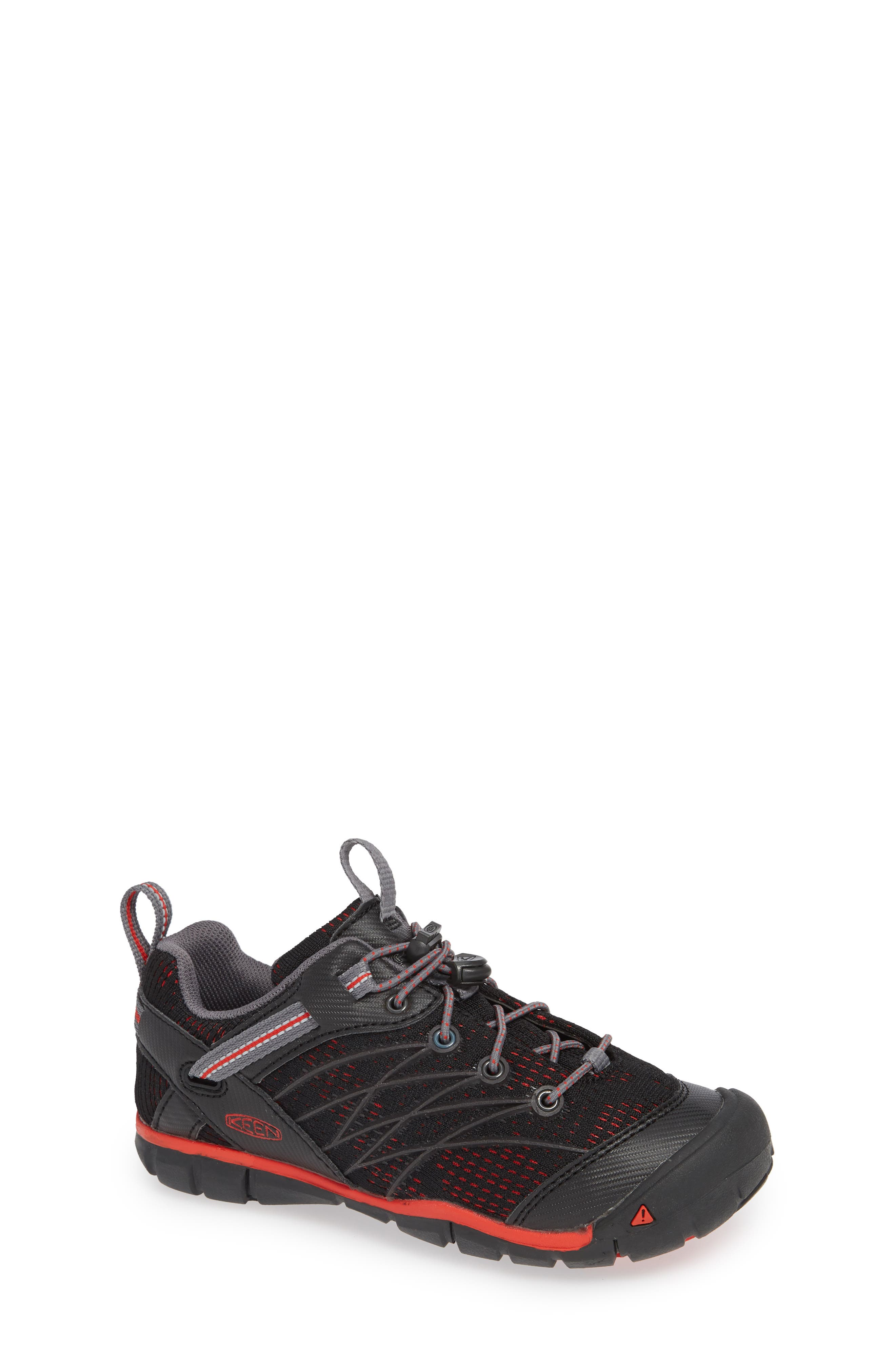 'Chandler CNX' Water Friendly Sneaker,                             Main thumbnail 1, color,                             RAVEN/ FIRE RED