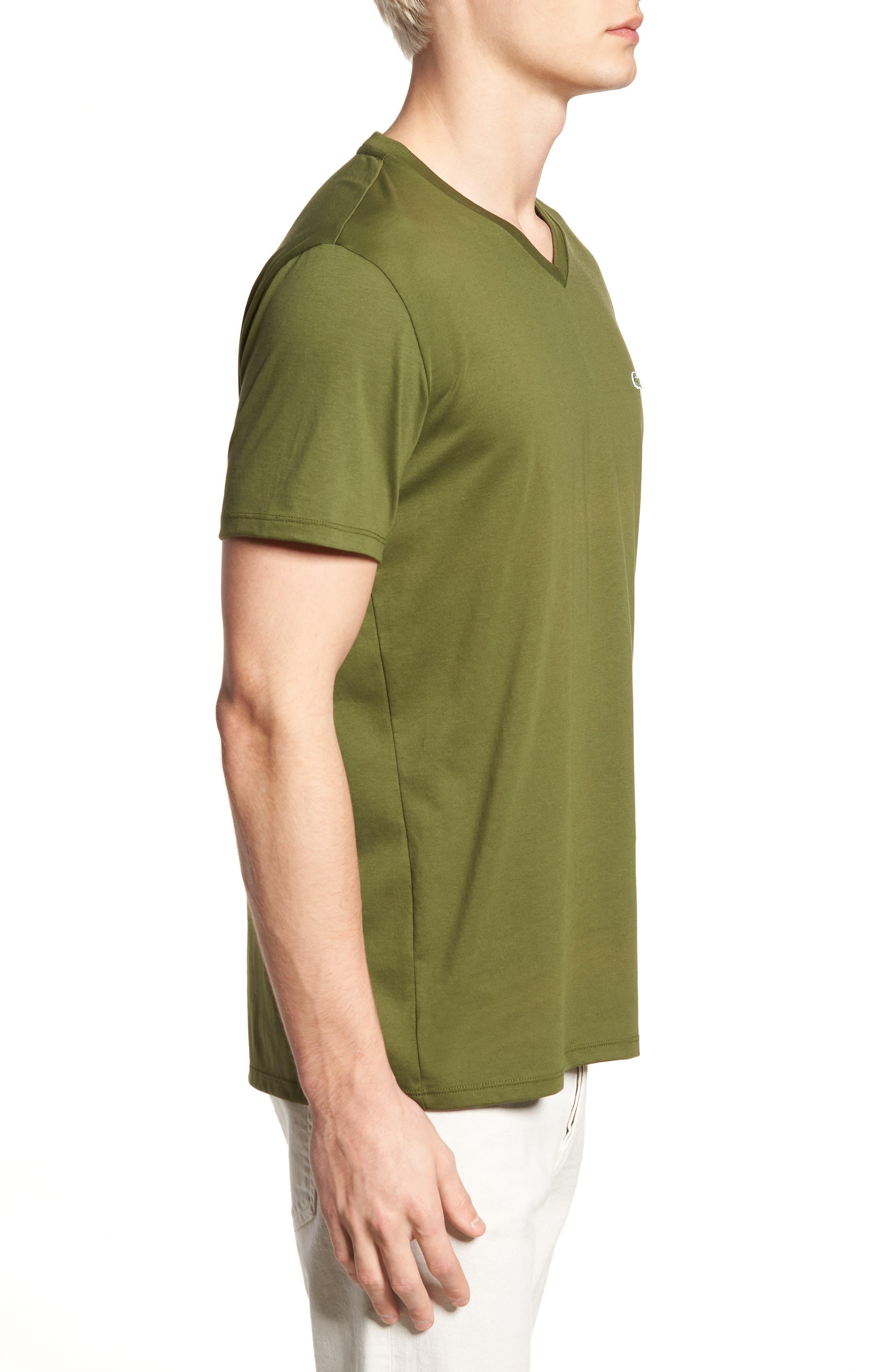 V-Neck Cotton T-Shirt,                             Alternate thumbnail 3, color,                             305