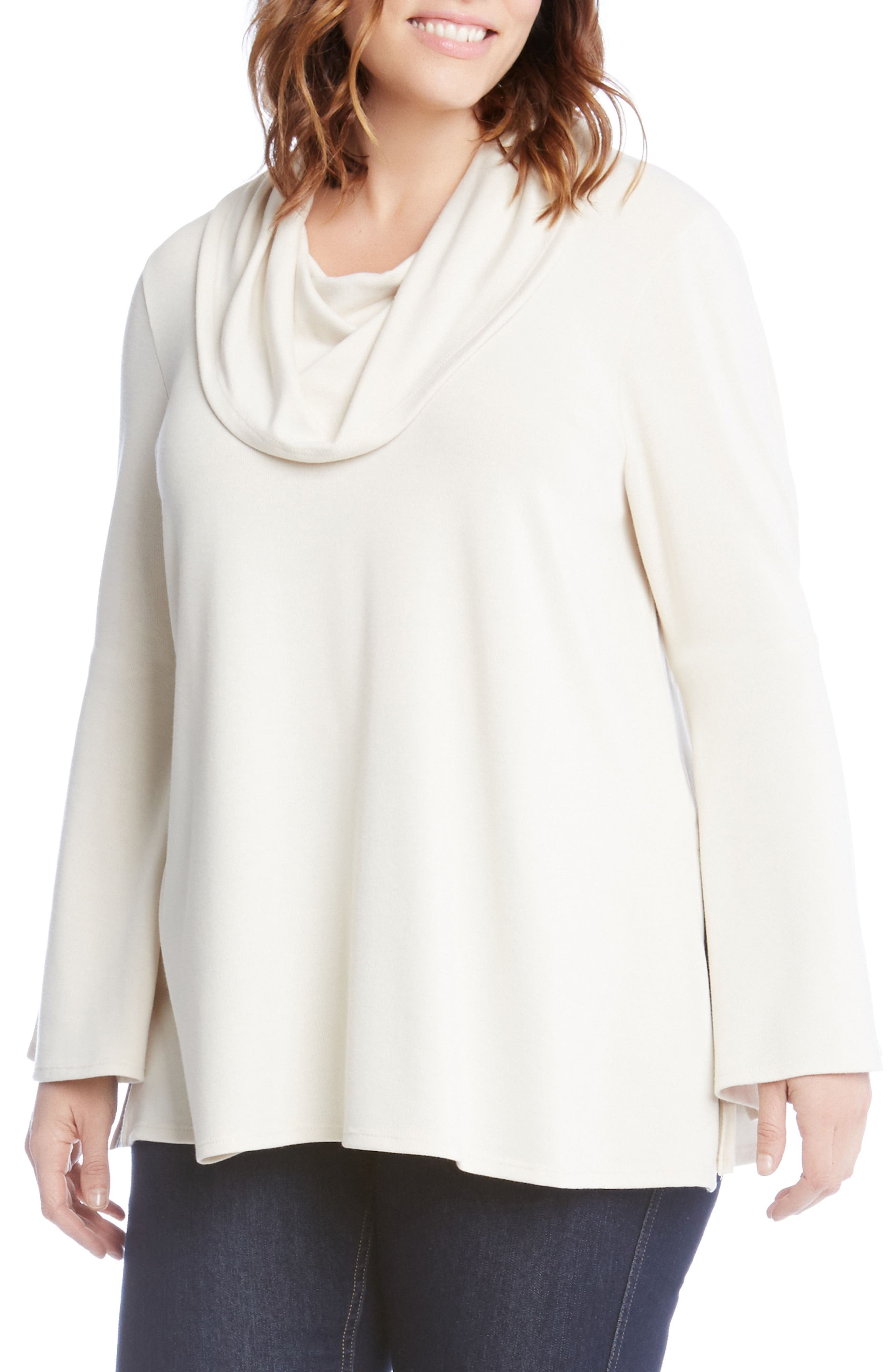 Flare Sleeve Cowl Neck Sweater,                             Main thumbnail 3, color,