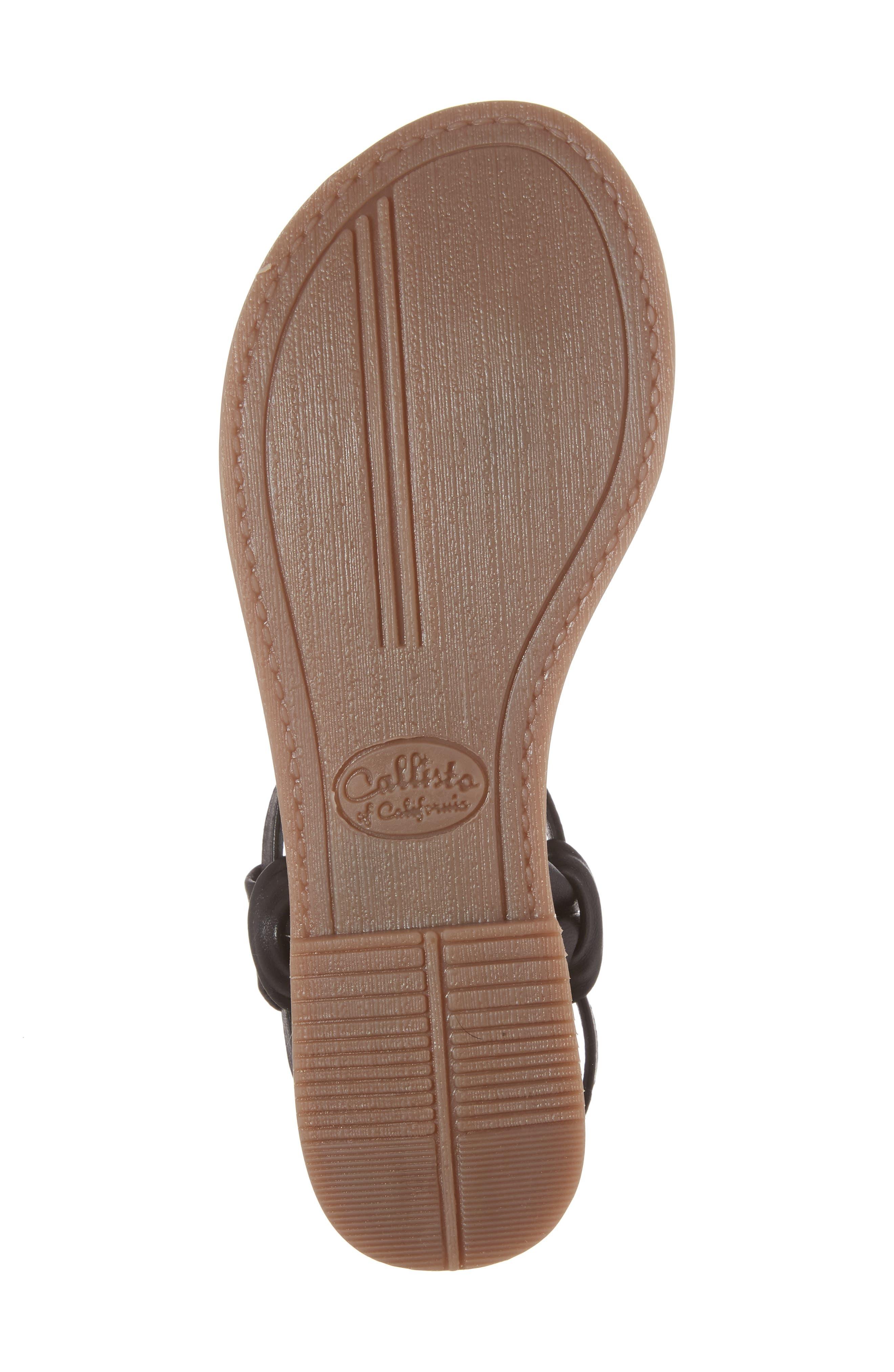 Azza T-Strap Sandal,                             Alternate thumbnail 6, color,                             001