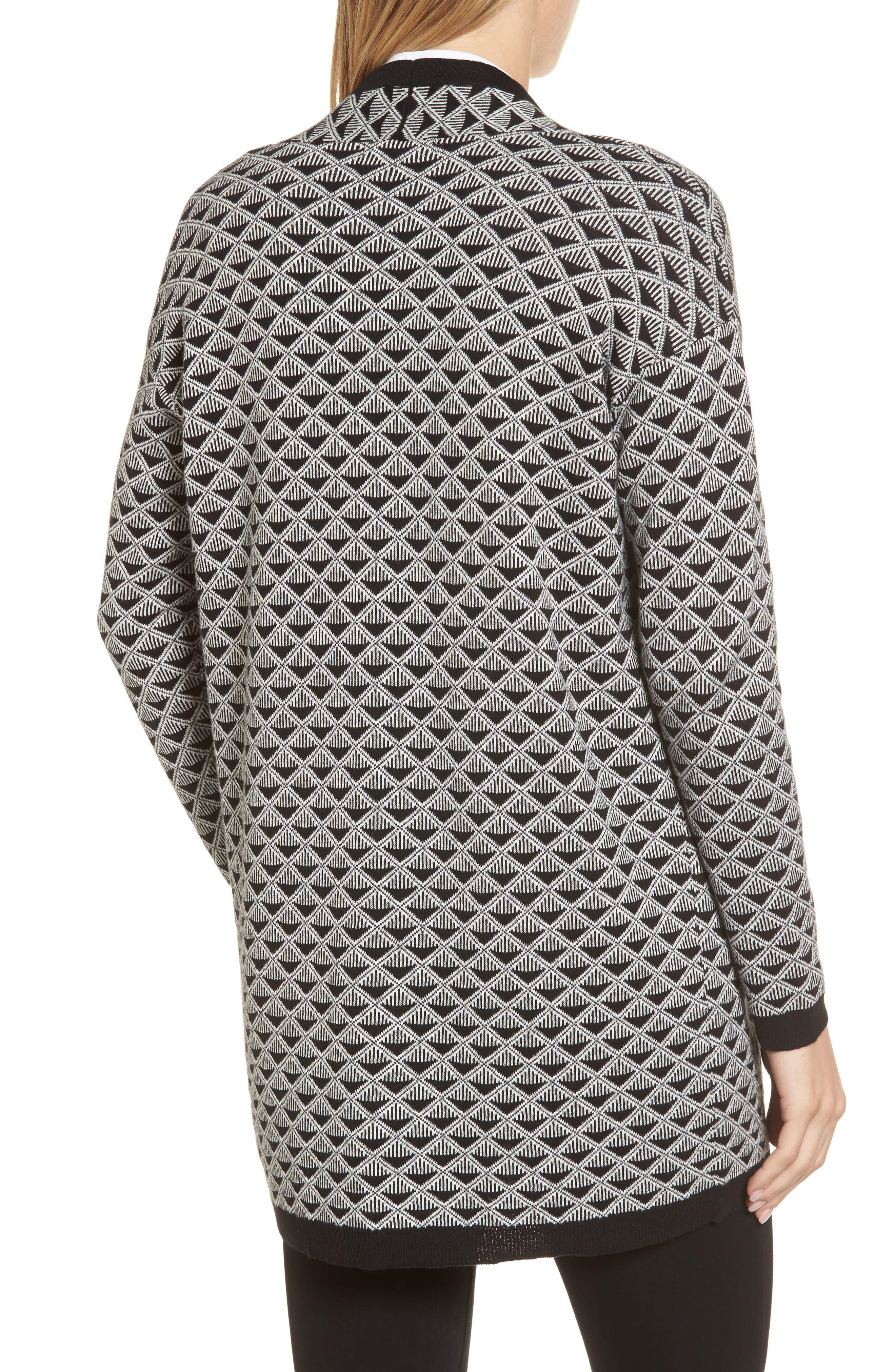 Geometric Jacquard Sweater,                             Alternate thumbnail 2, color,                             010
