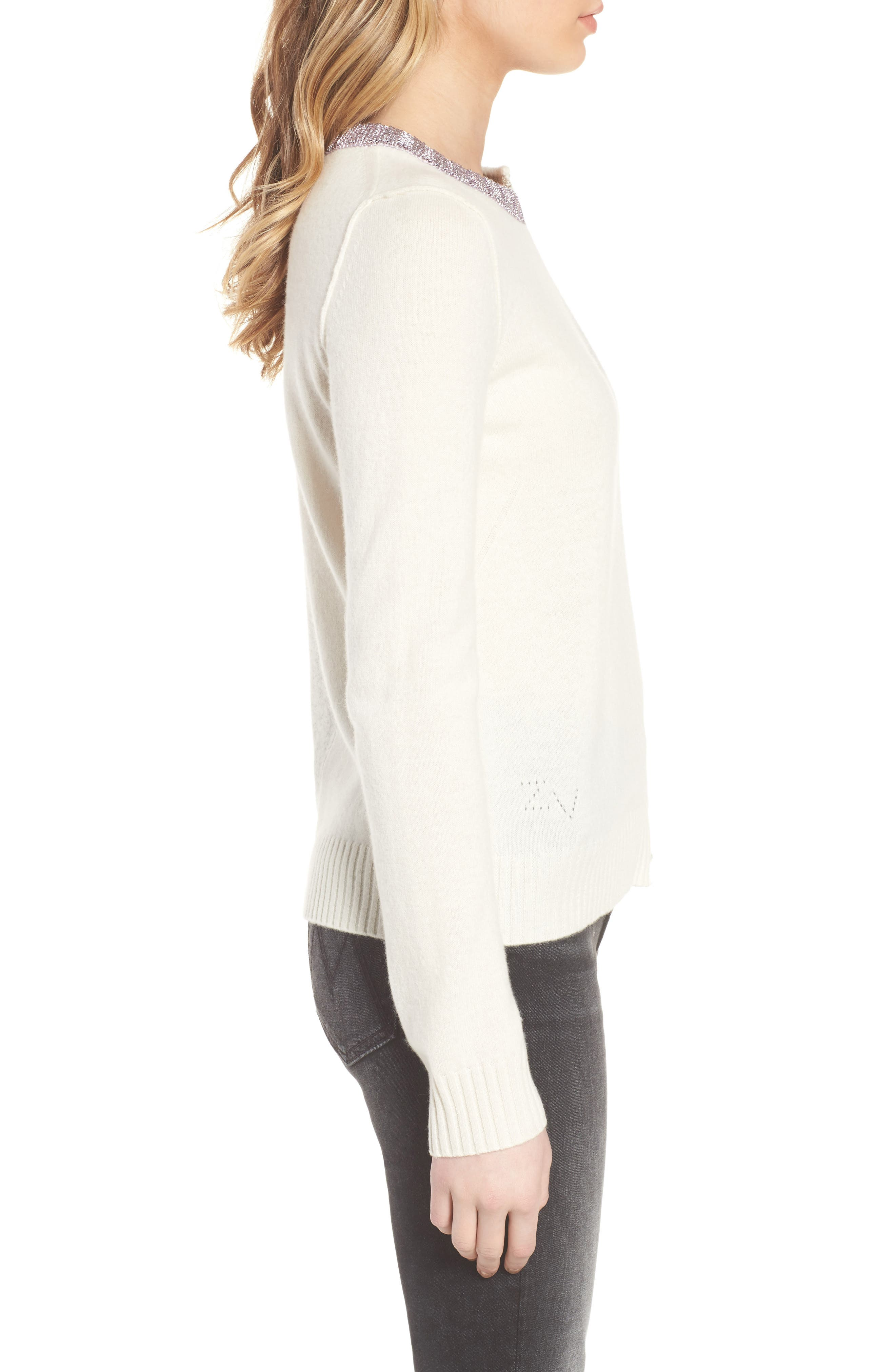 Source Two-Tone Wool & Cashmere Sweater,                             Alternate thumbnail 3, color,                             060