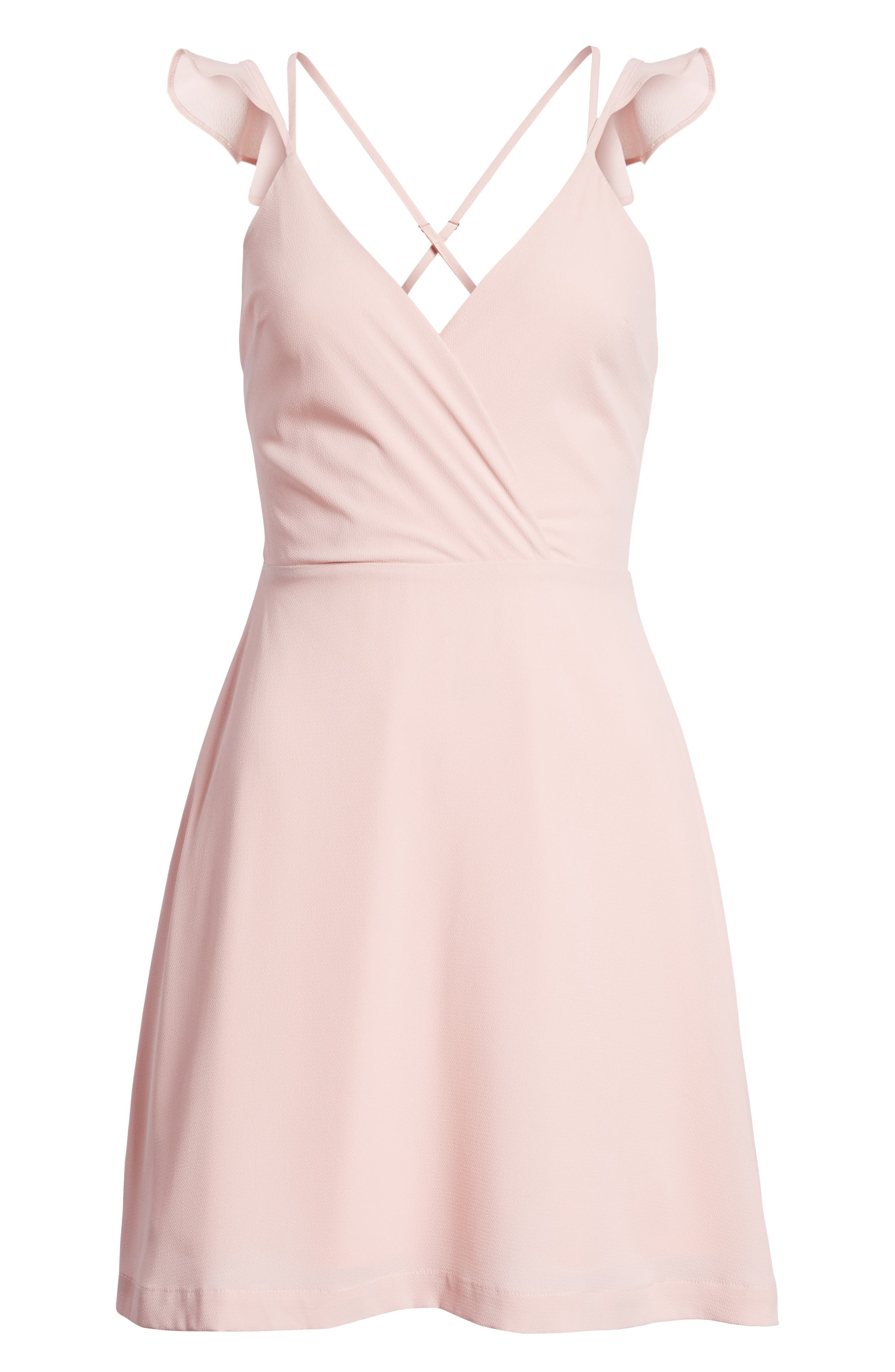 Strappy Surplice Mini Dress,                             Alternate thumbnail 7, color,                             650