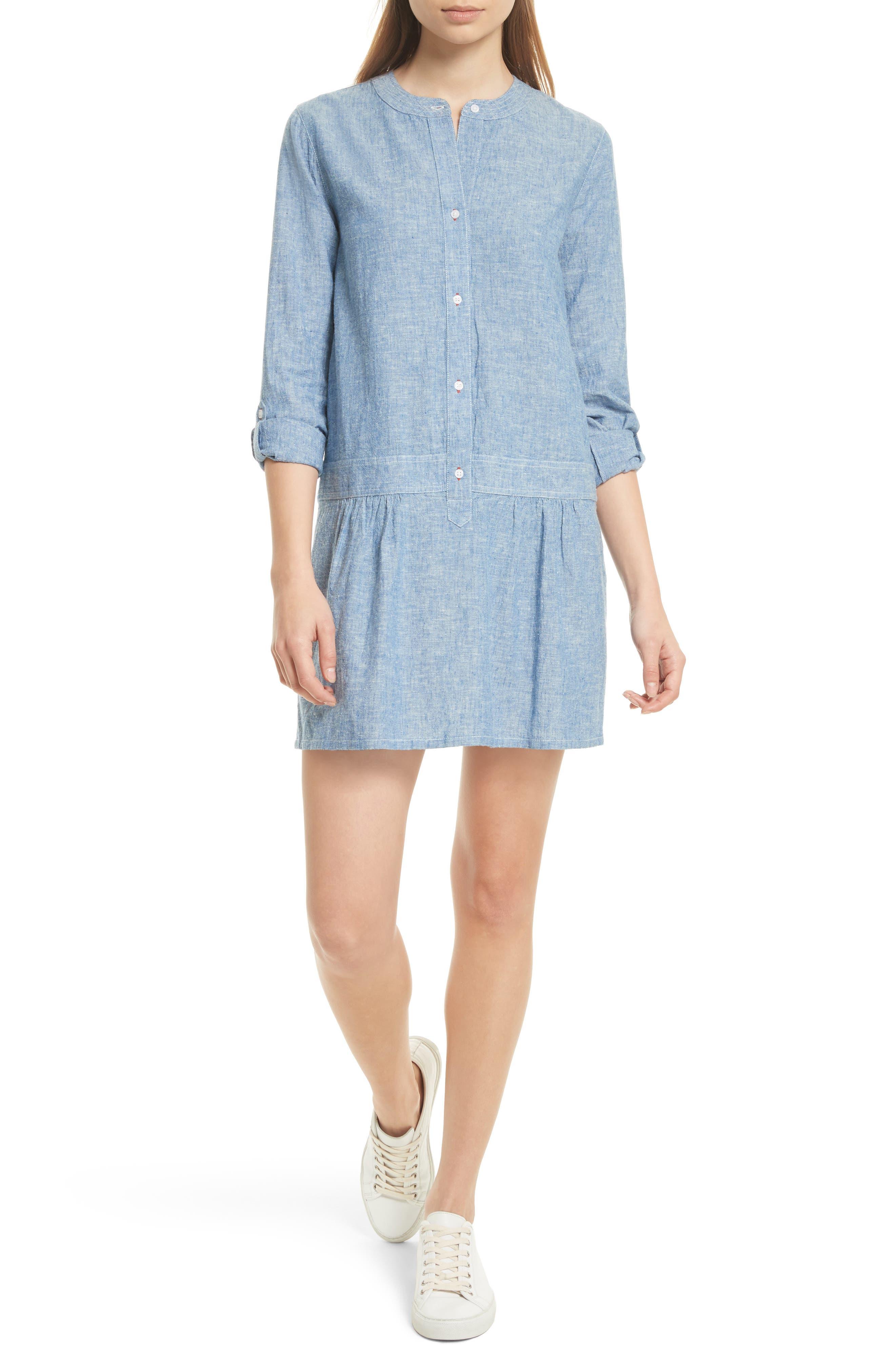 Amiri Chambray Shirtdress,                         Main,                         color, 409