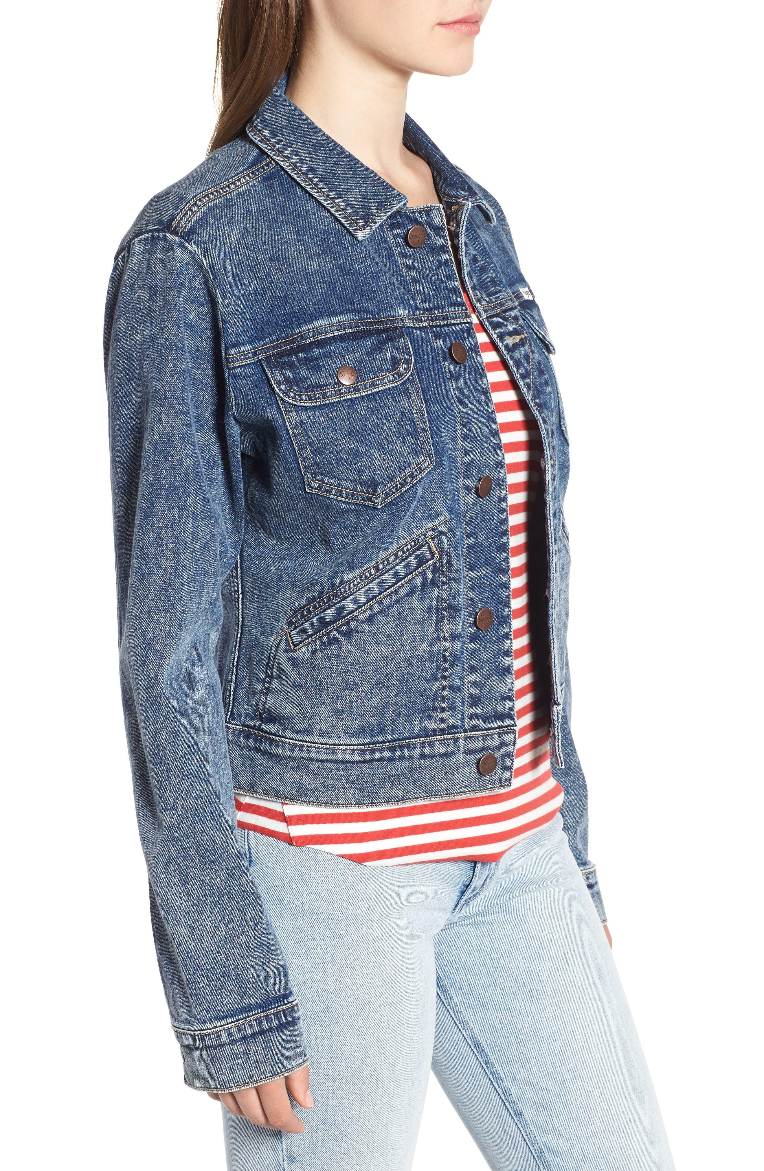 Denim Jacket,                             Alternate thumbnail 3, color,                             401