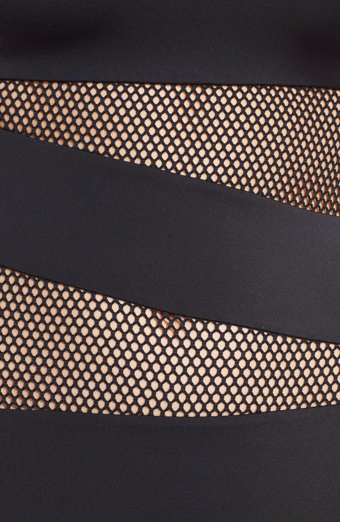 DKNY,                             'Mesh Splice' Maillot,                             Alternate thumbnail 3, color,                             002