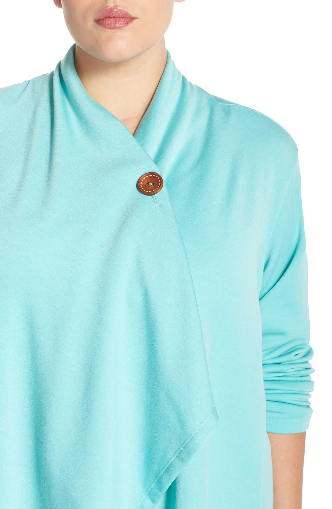 One-Button Fleece Cardigan,                             Alternate thumbnail 183, color,