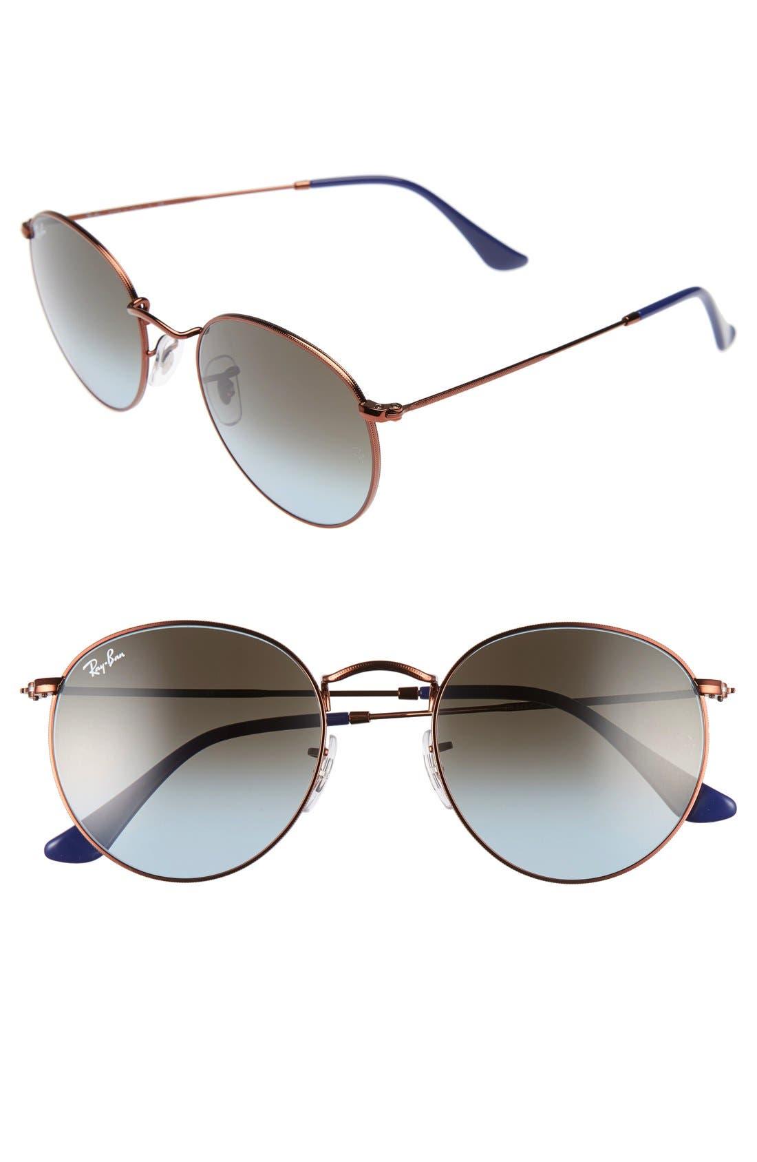 Icons 50mm Retro Sunglasses,                             Main thumbnail 2, color,