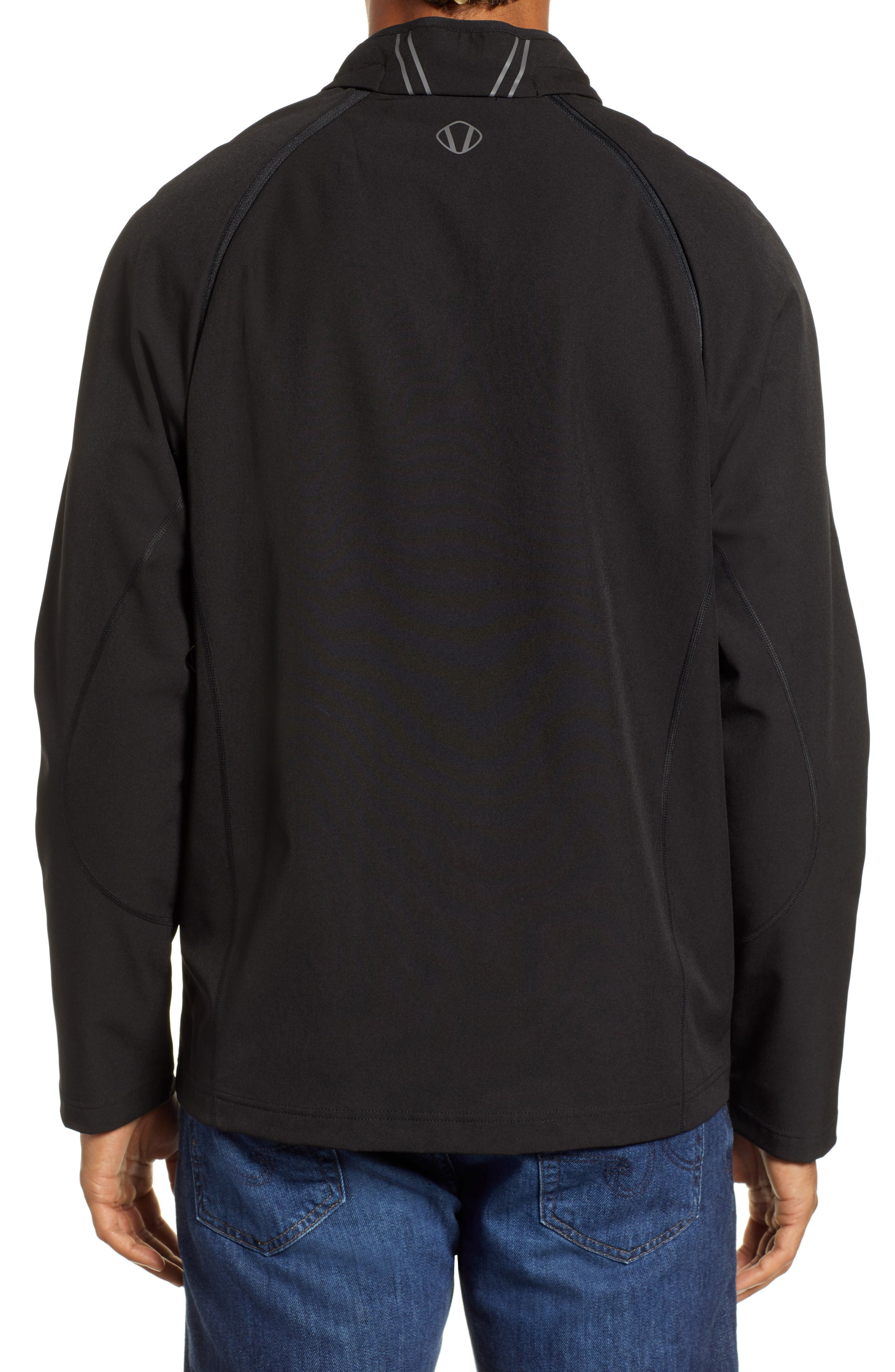 Hanson Water Repellent Convertible Jacket,                             Alternate thumbnail 3, color,                             BLACK