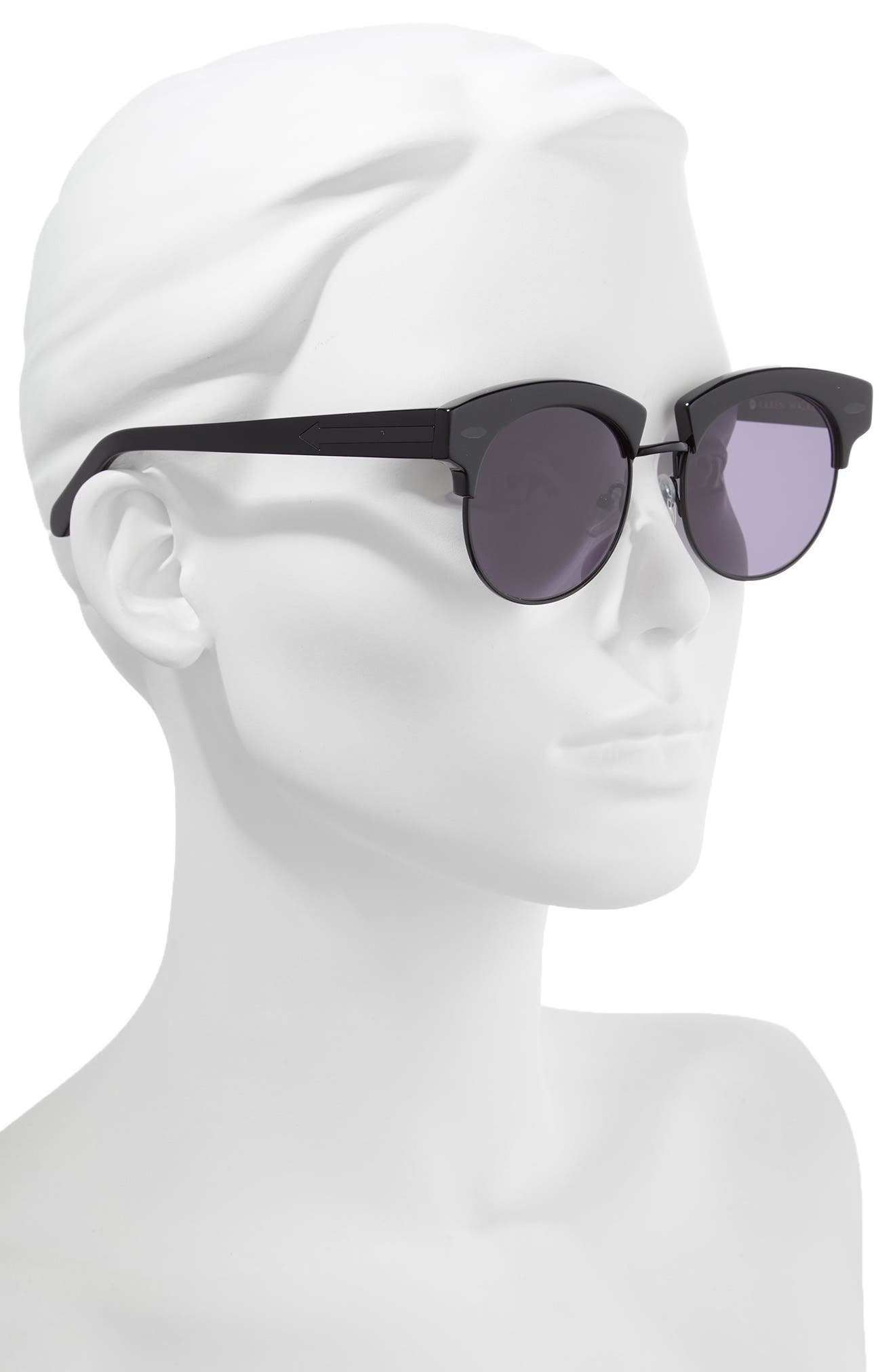 The Constable 51mm Sunglasses,                             Alternate thumbnail 2, color,                             BLACK