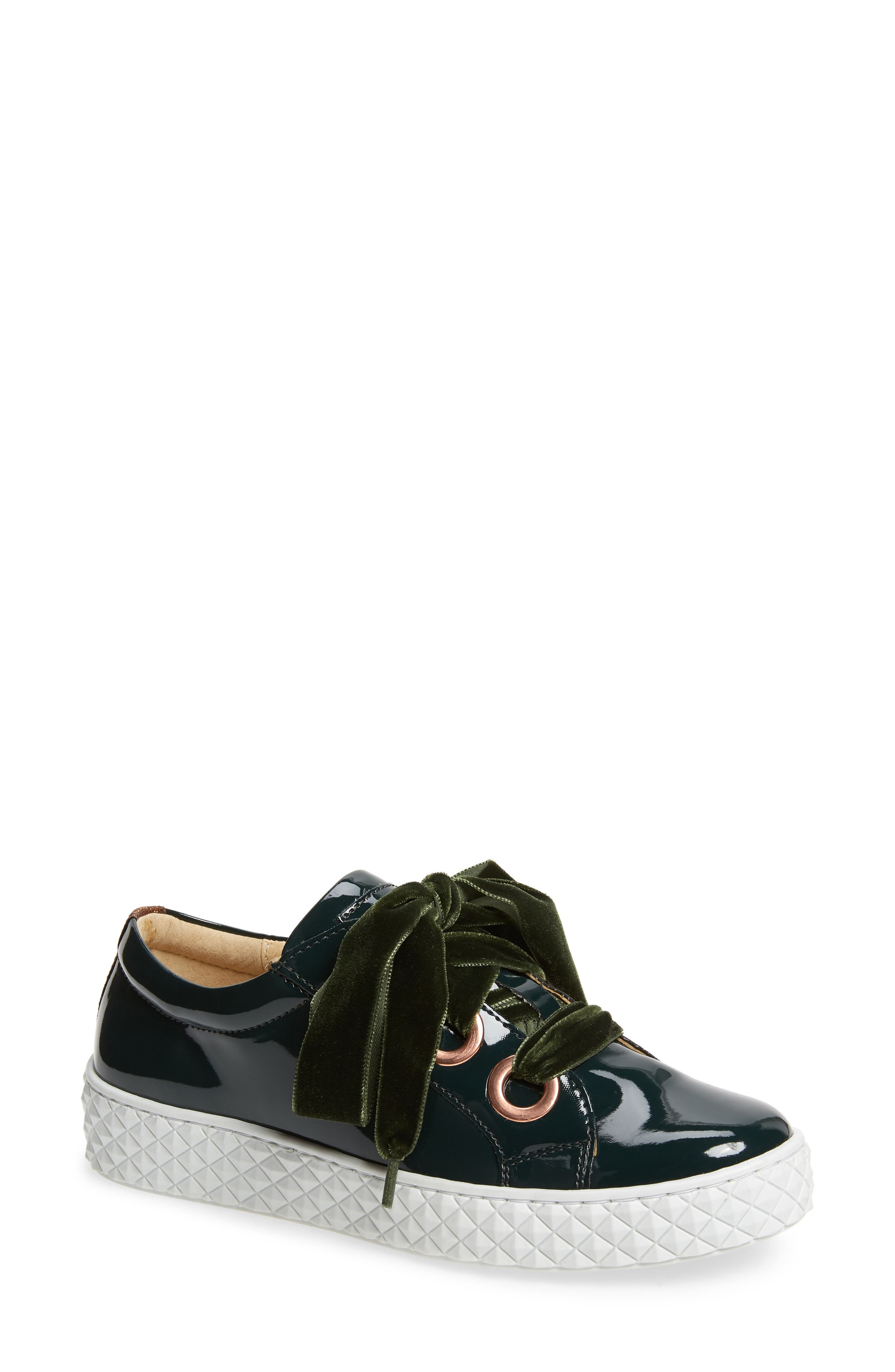 Acton III Sneaker,                         Main,                         color, BOTTLE GREEN LEATHER