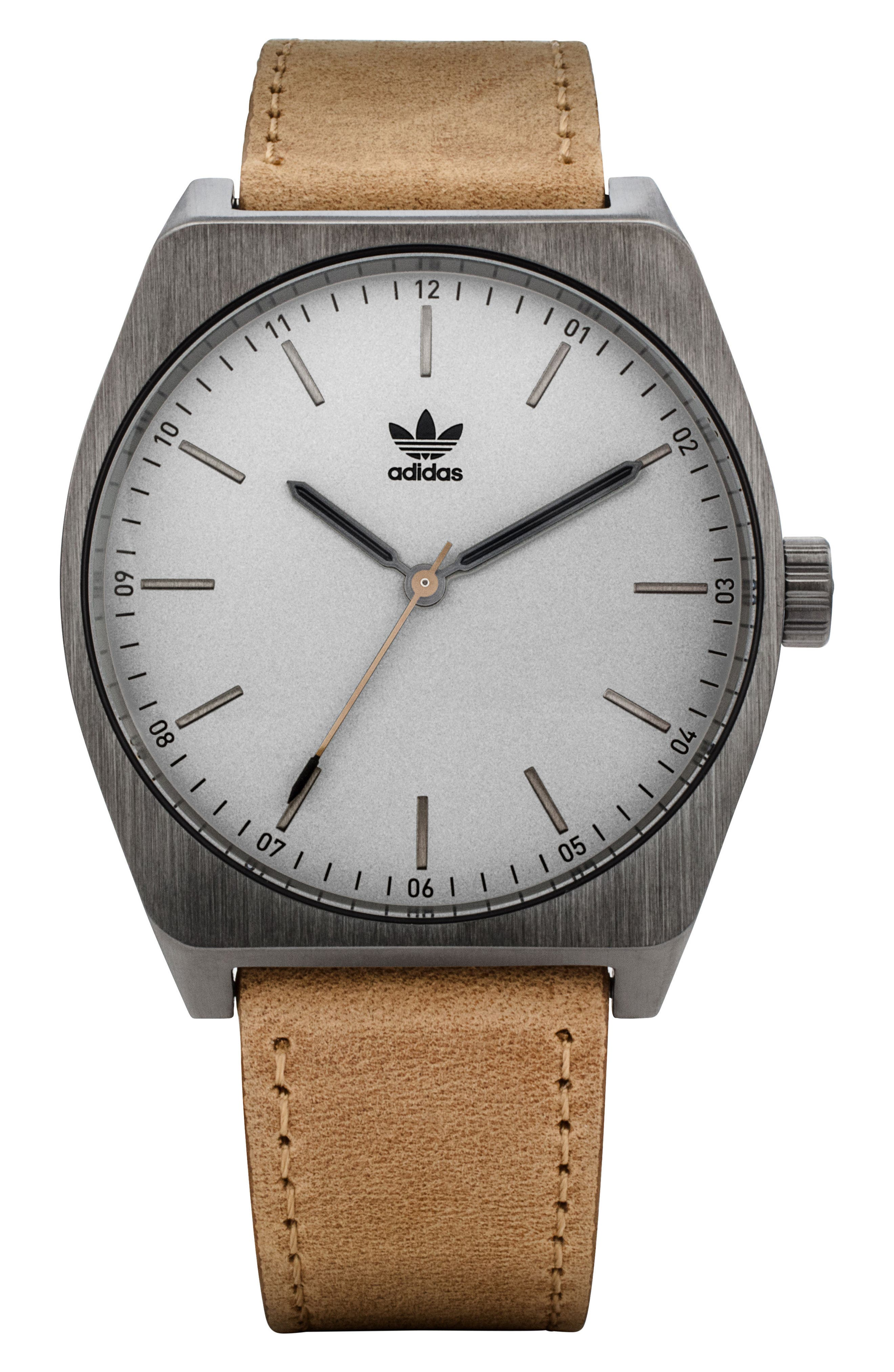Process Leather Strap Watch, 38mm,                             Main thumbnail 2, color,