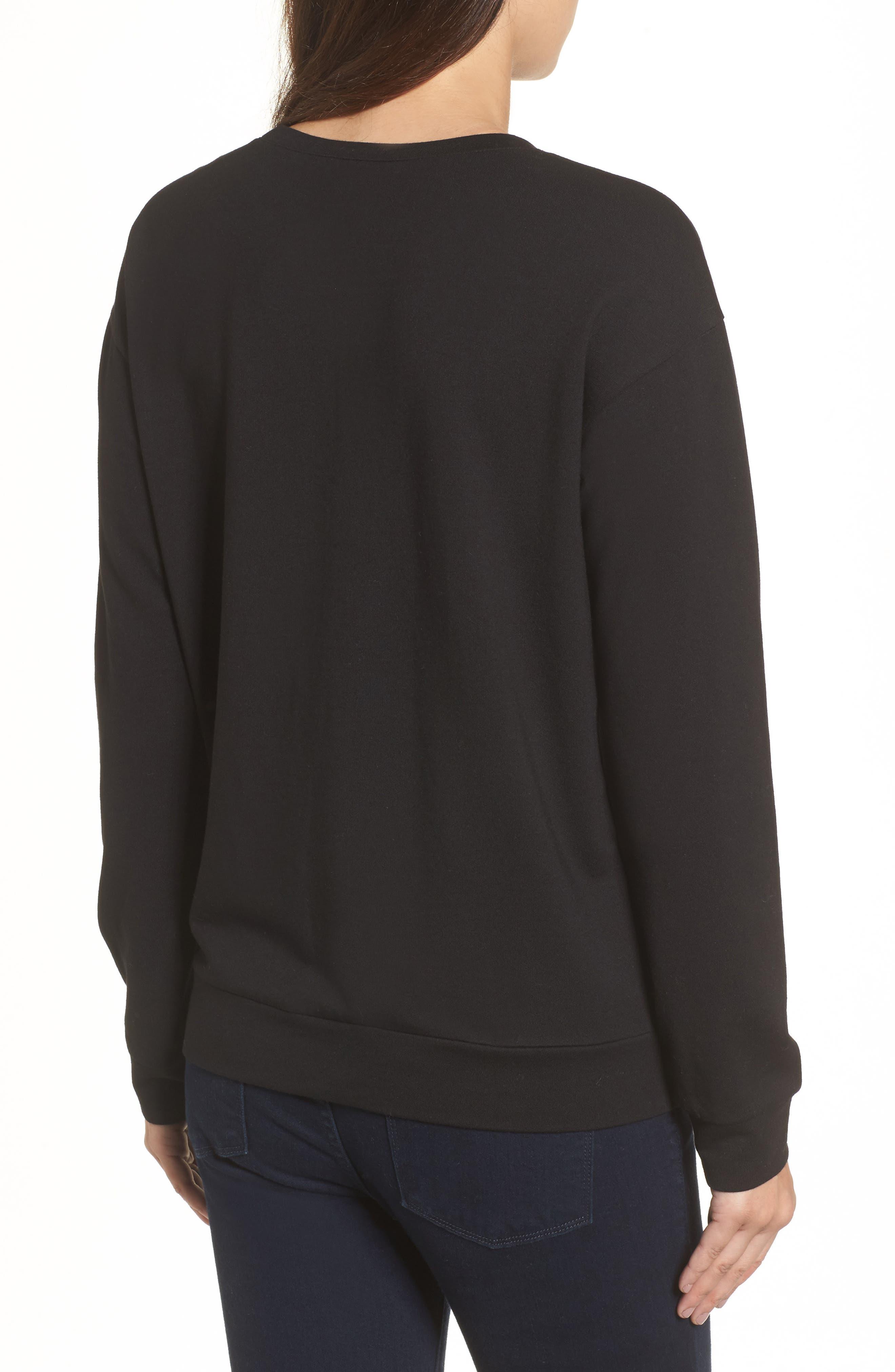 Bow Detail Sweatshirt,                             Alternate thumbnail 2, color,                             001