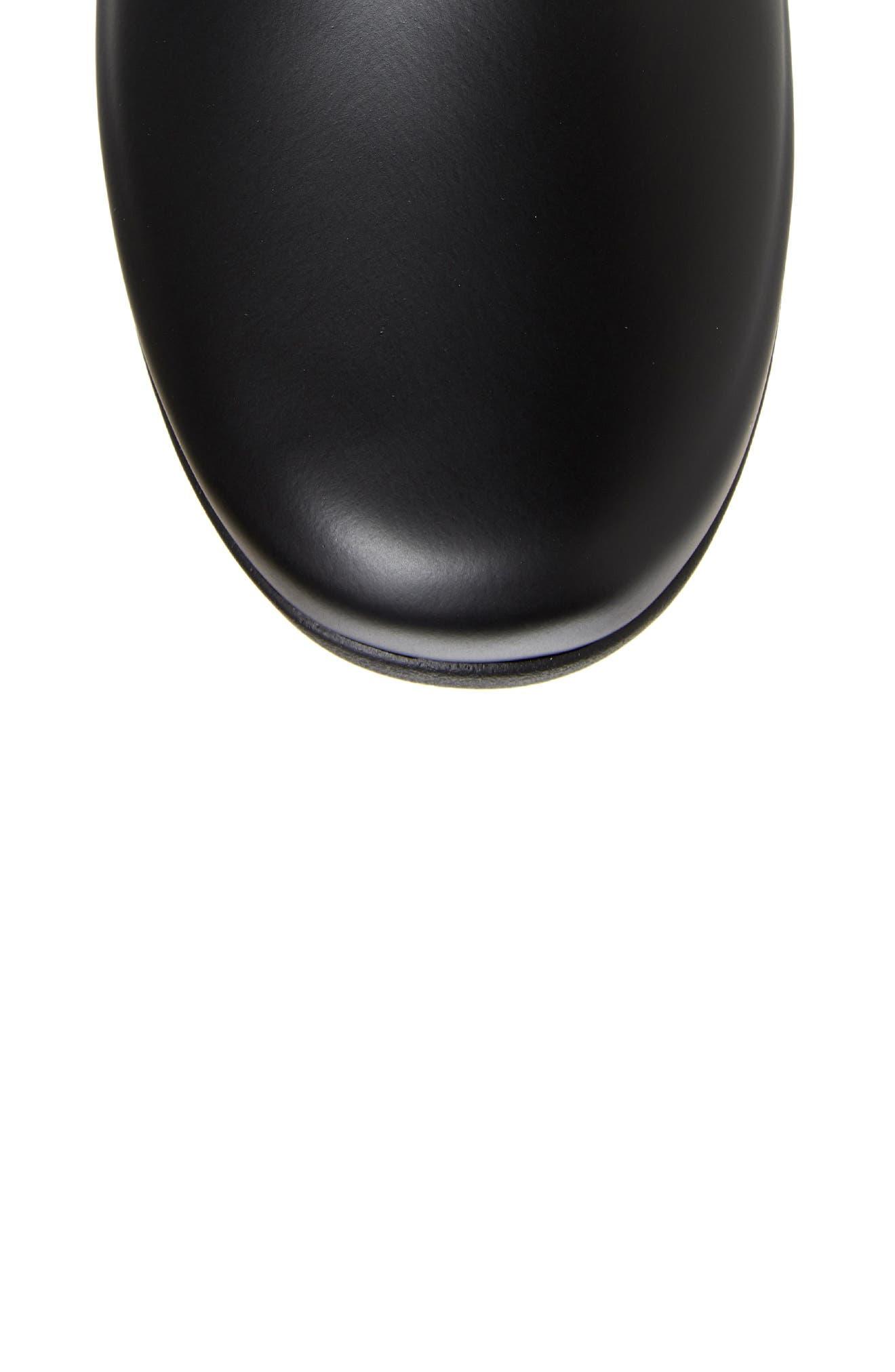 HUNTER,                             Original Refined Waterproof Rain Boot,                             Alternate thumbnail 5, color,                             BLACK REGULAR