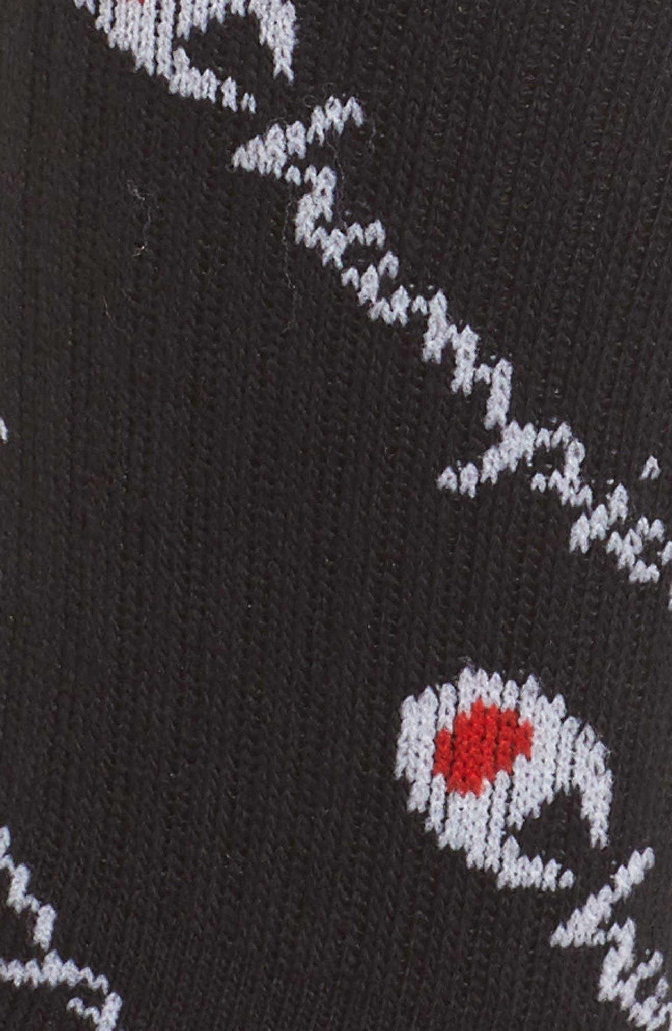 Allover Logo Crew Socks,                             Alternate thumbnail 2, color,                             001