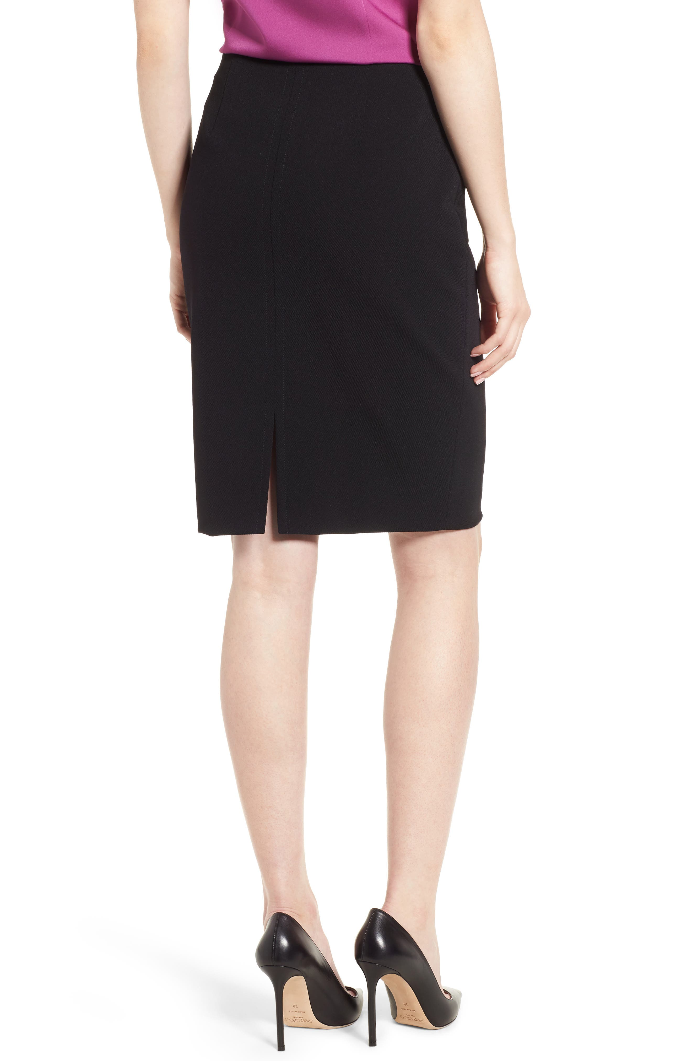 Vinueza Twill Jersey Suit Skirt,                             Alternate thumbnail 2, color,                             001
