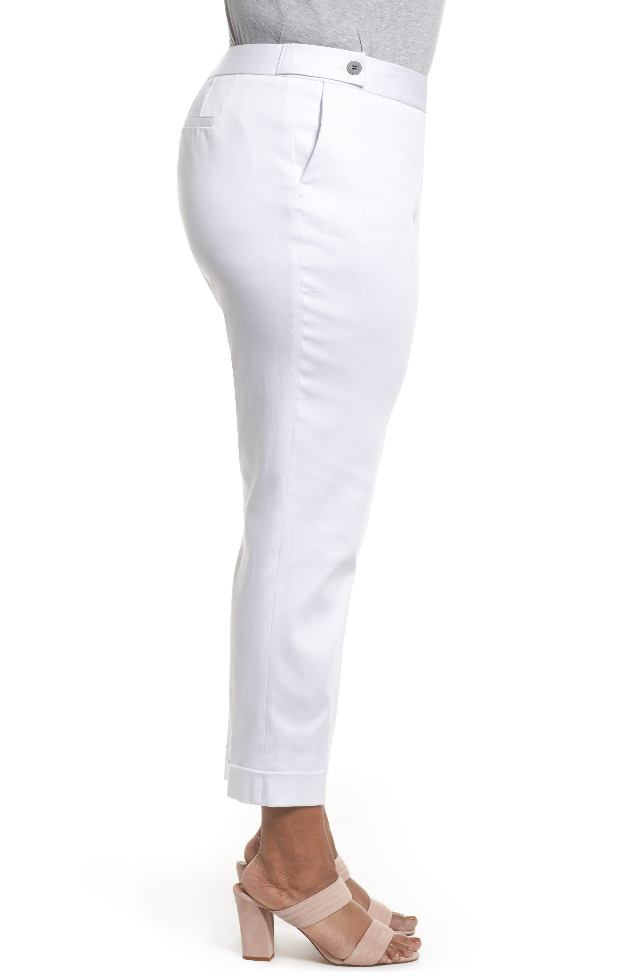 Stretch Twill Ankle Pants,                             Alternate thumbnail 10, color,