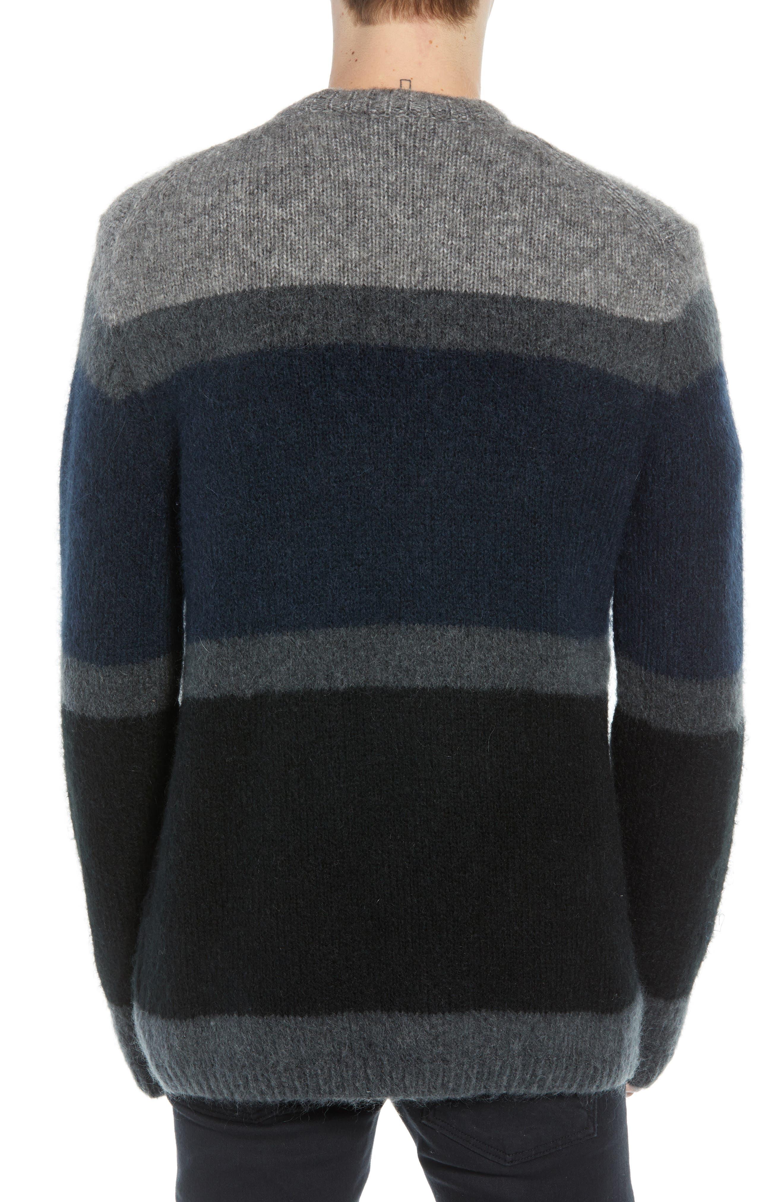Stripe Sweater,                             Alternate thumbnail 2, color,                             UTILITY BLUE CHARCOAL MELANGE