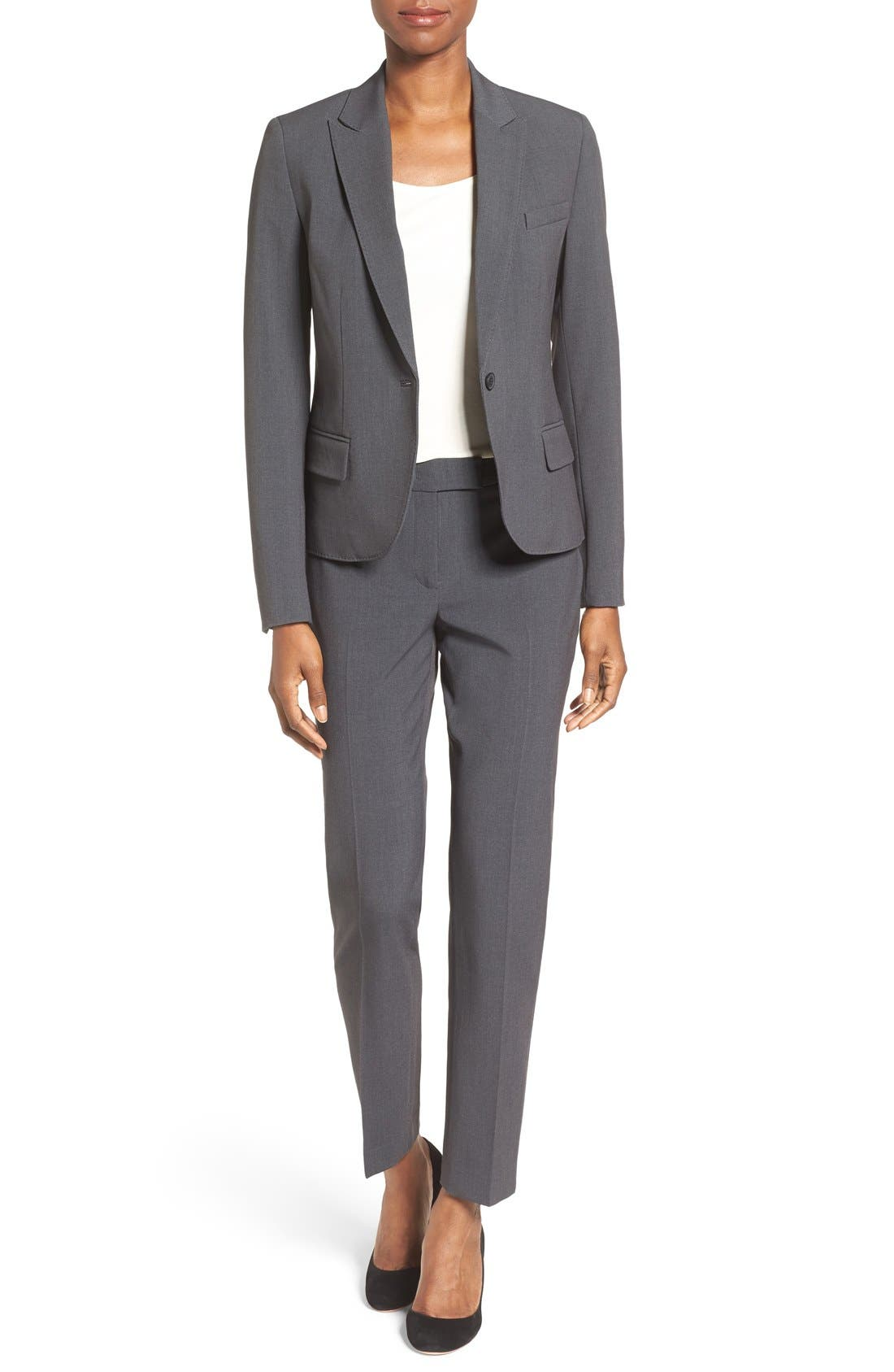Slim Suit Pants,                             Alternate thumbnail 3, color,                             NEW GREY