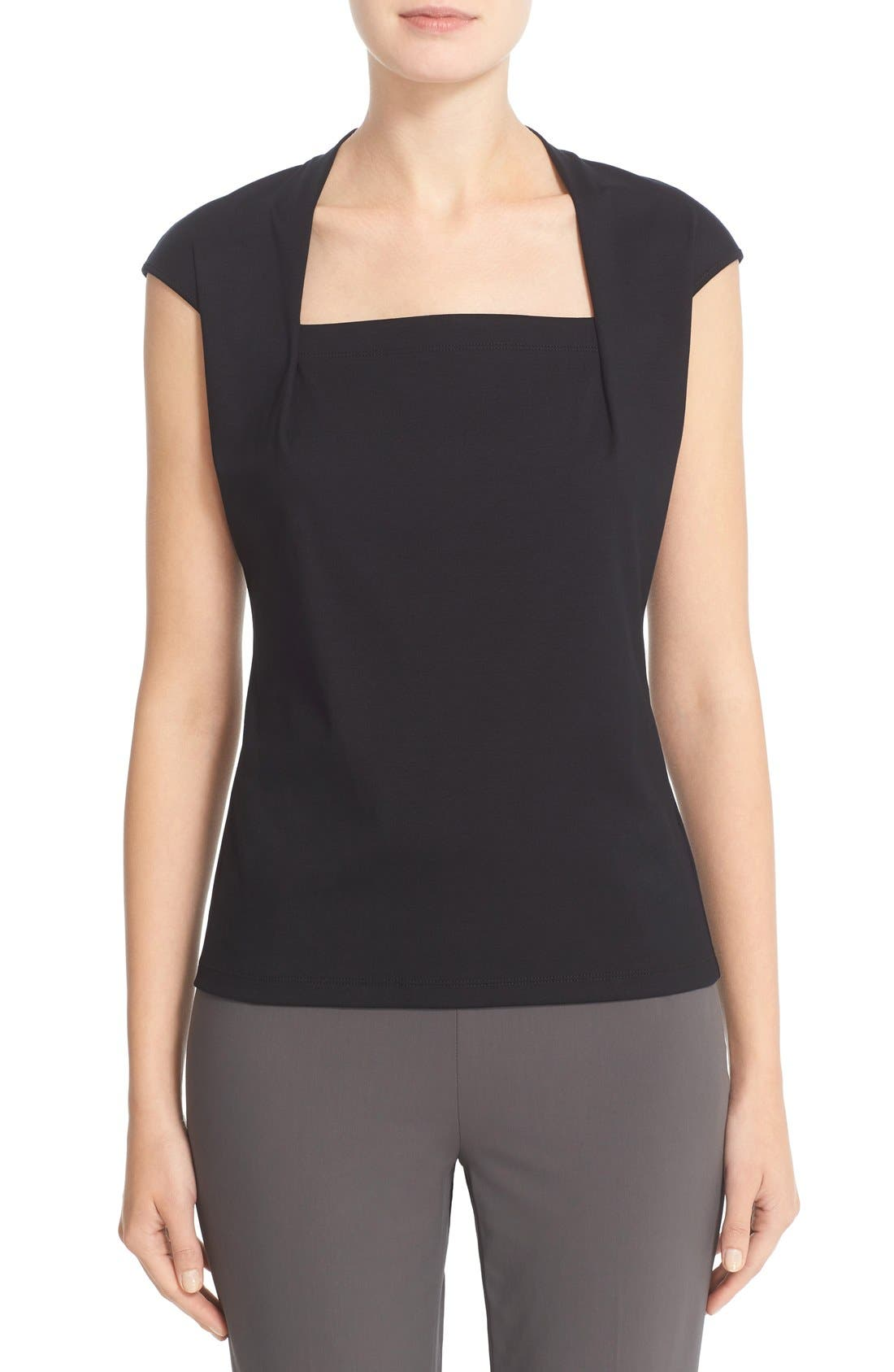 'Giada' Top,                         Main,                         color, BLACK