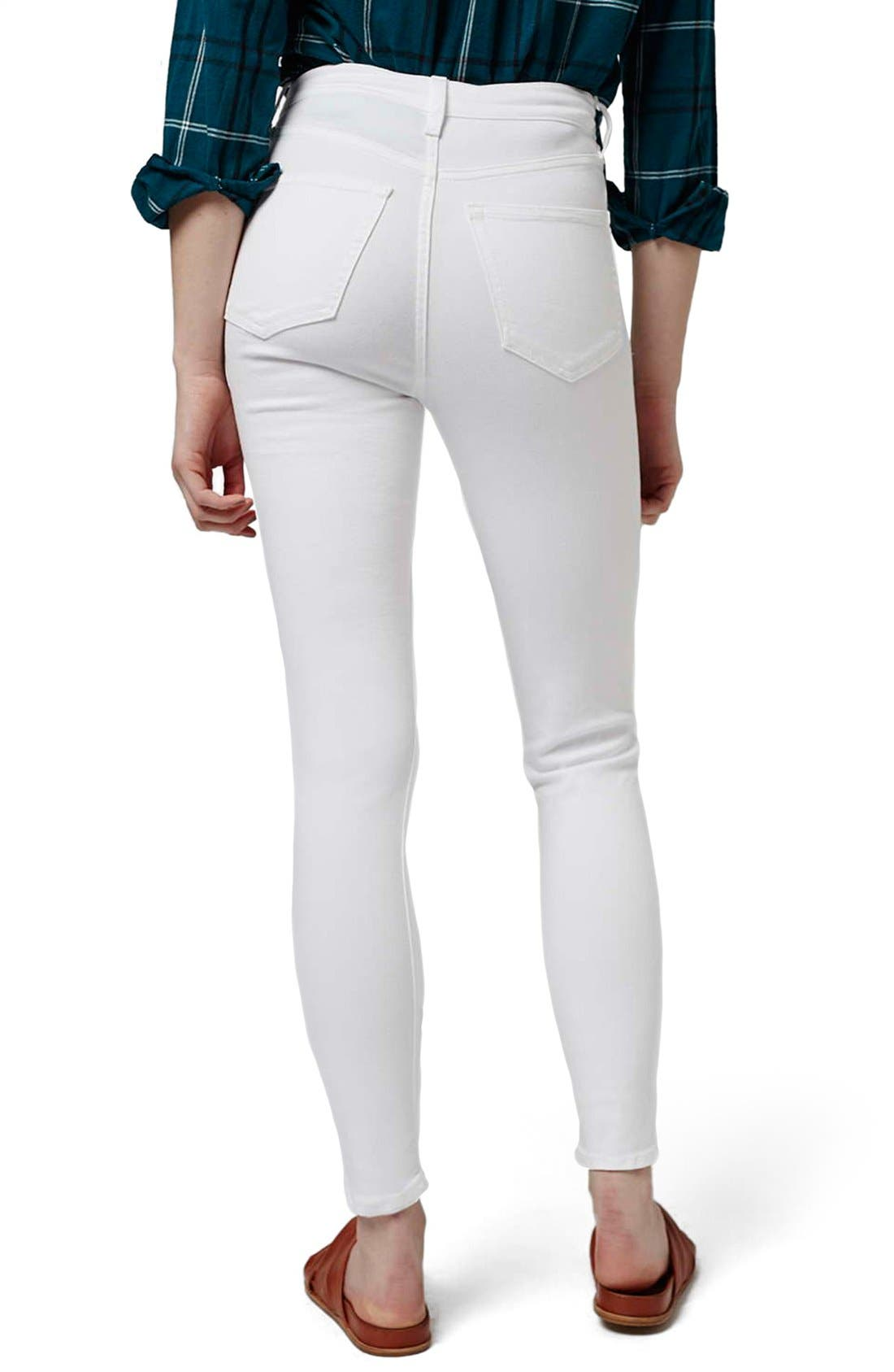 'Jamie - Super Ripped' High Waist Skinny Jeans,                             Alternate thumbnail 3, color,