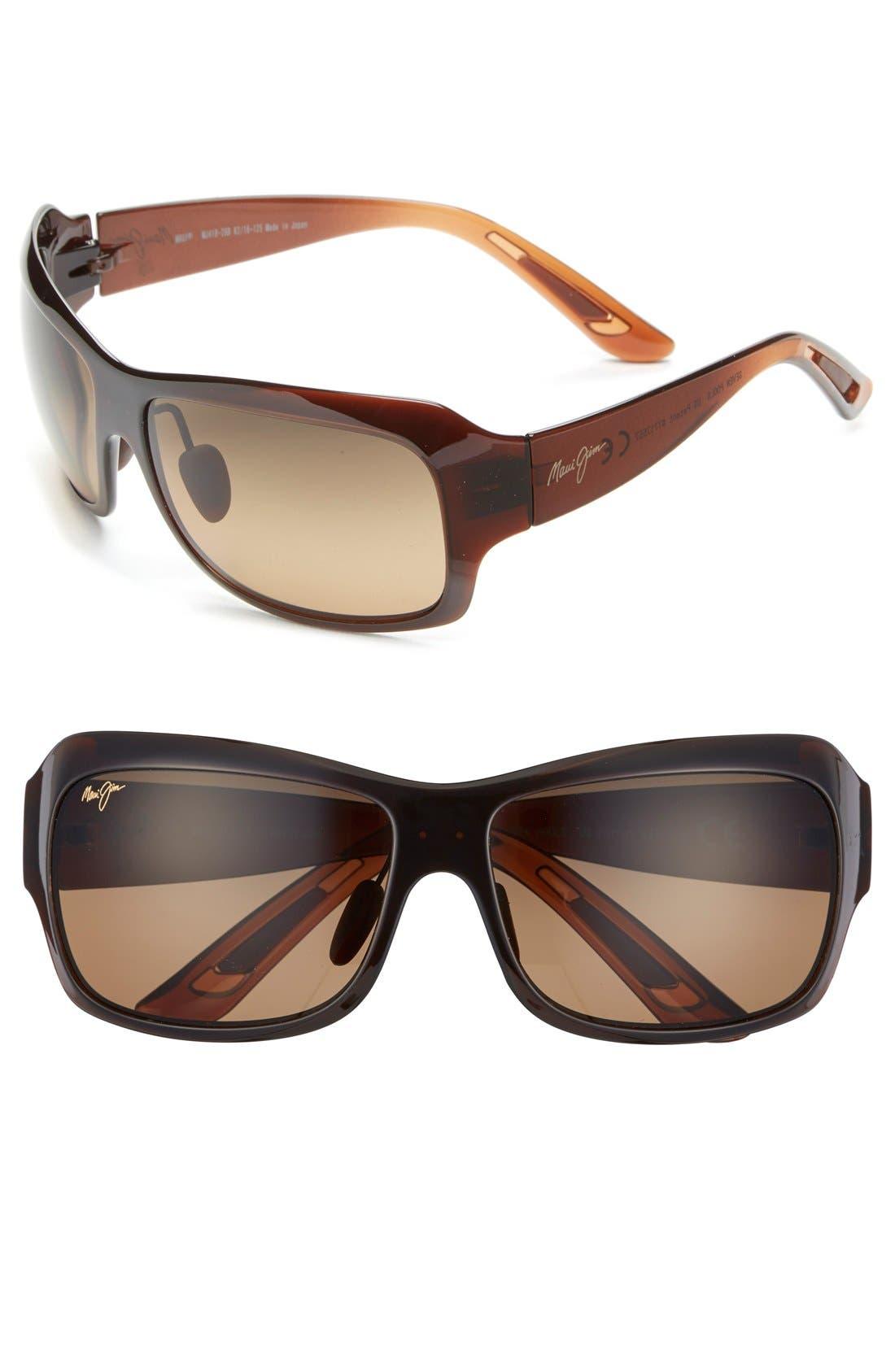 Seven Pools 62mm PolarizedPlus2<sup>®</sup> Sunglasses,                             Main thumbnail 1, color,                             ROOTBEER FADE/ BRONZE
