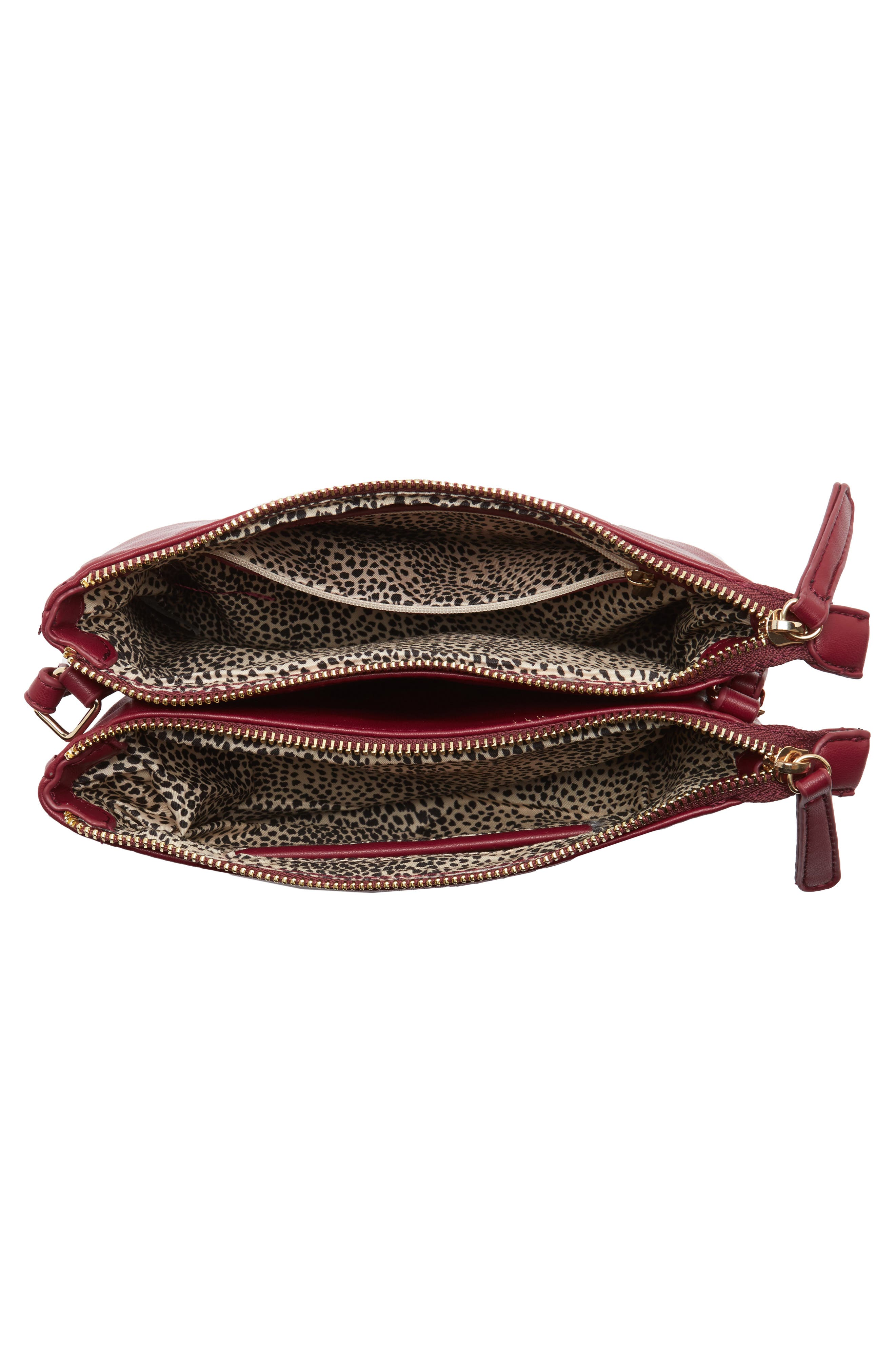 Madden Faux Leather Pouch Crossbody Bag,                             Alternate thumbnail 12, color,